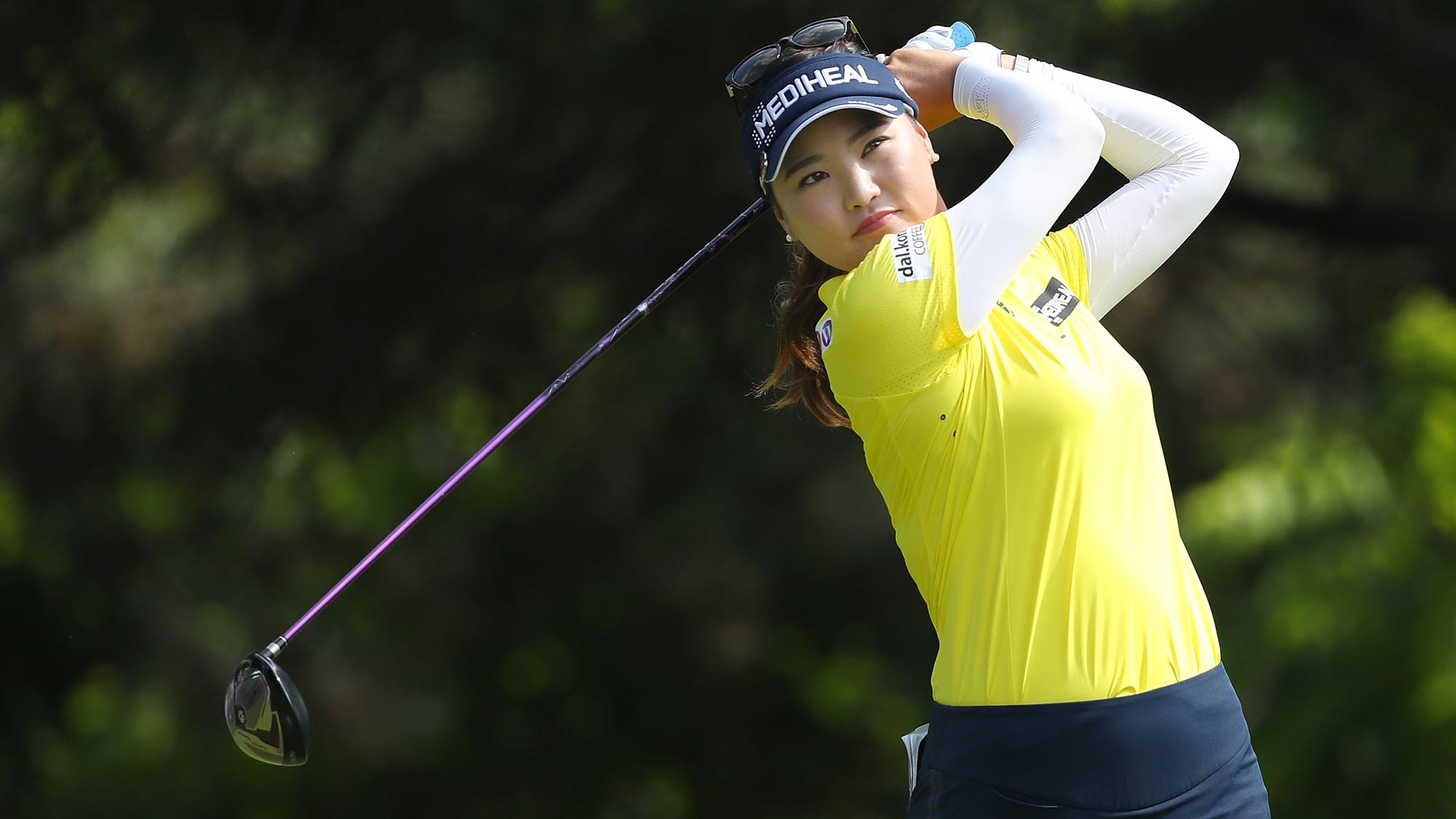 So Yeon Ryu of Korea watches her drive on the second hole during the final round of the 2018 KPMG Women's PGA Championship