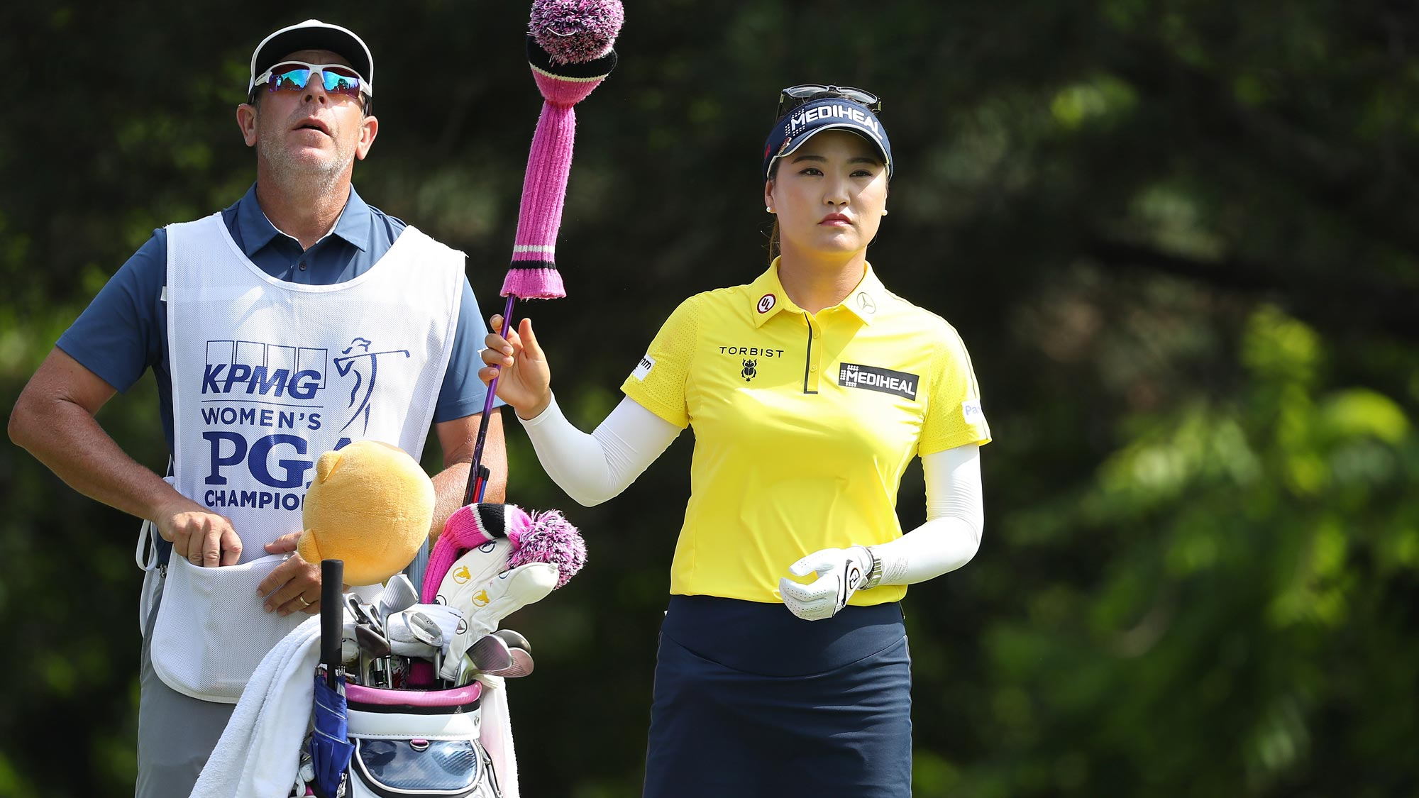 So Yeon Ryu of Korea selects her driver on the second tee during the final round of the 2018 KPMG Women's PGA Championship