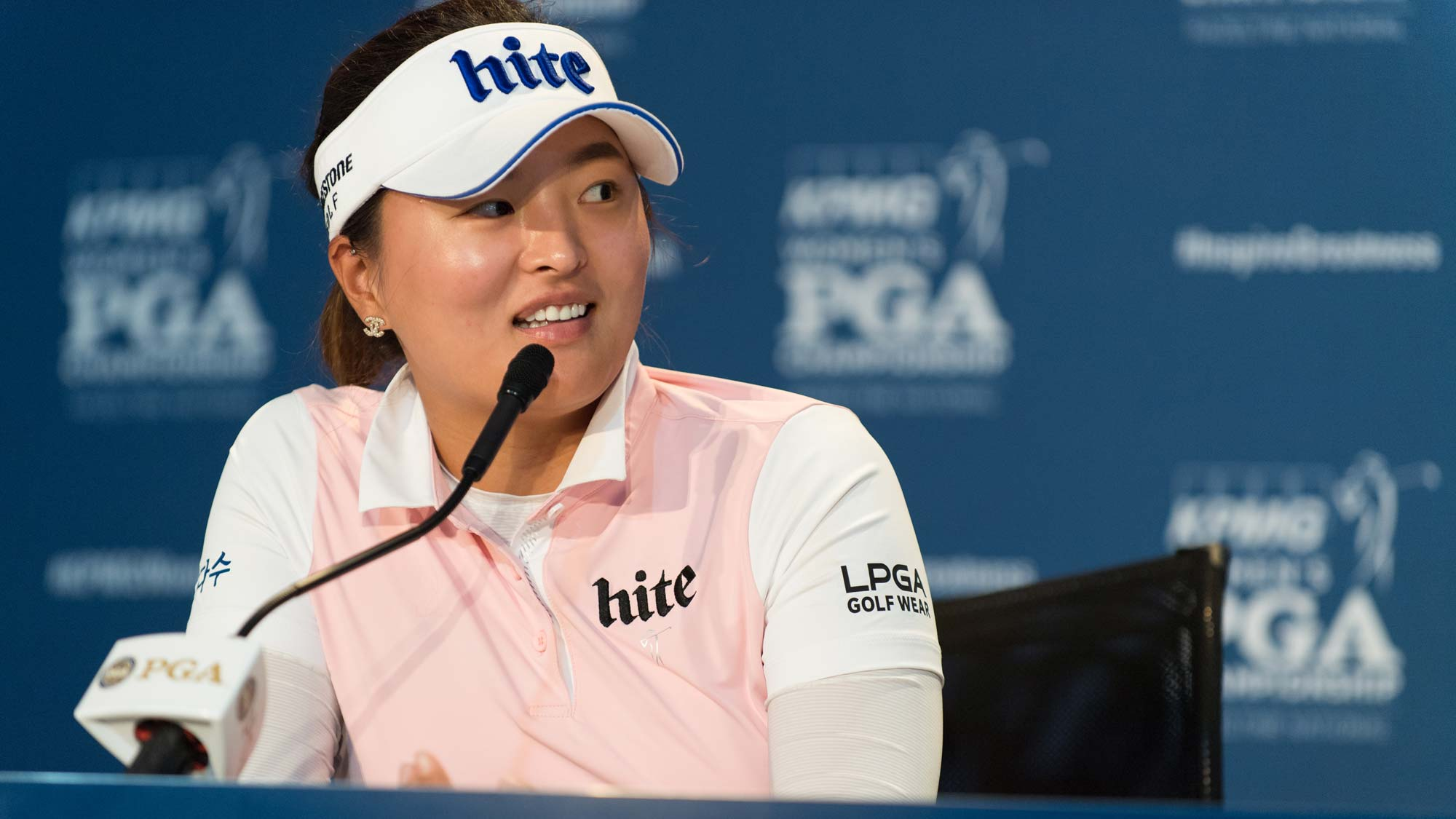 Jin Young Ko talks with the media ahead of the 2019 KPMG Women's PGA Championship