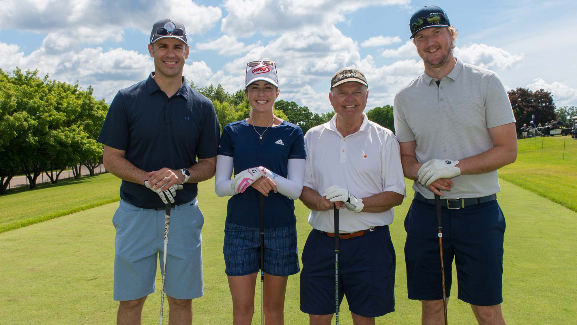 Paula Creamer, Sven Holmes, Devan Dubnyk and Joe Mauer during the Pro-Am Tournament for the 65th KPMG Women's PGA Championship