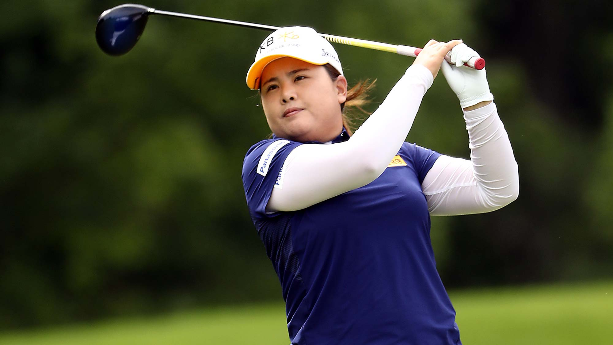 Inbee Park of Korea hits her first shot on the 15th hole during the first round of the KPMG Women's PGA Championship