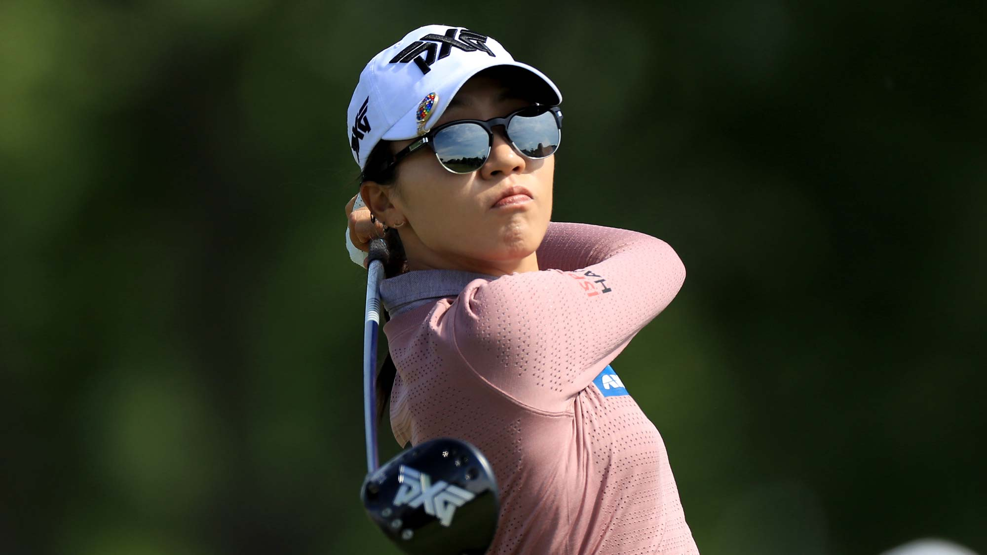 Lydia Ko of New Zealand plays her tee shot on the par 4, 12th hole during the first round of the 2019 KPMG Women's PGA Championship