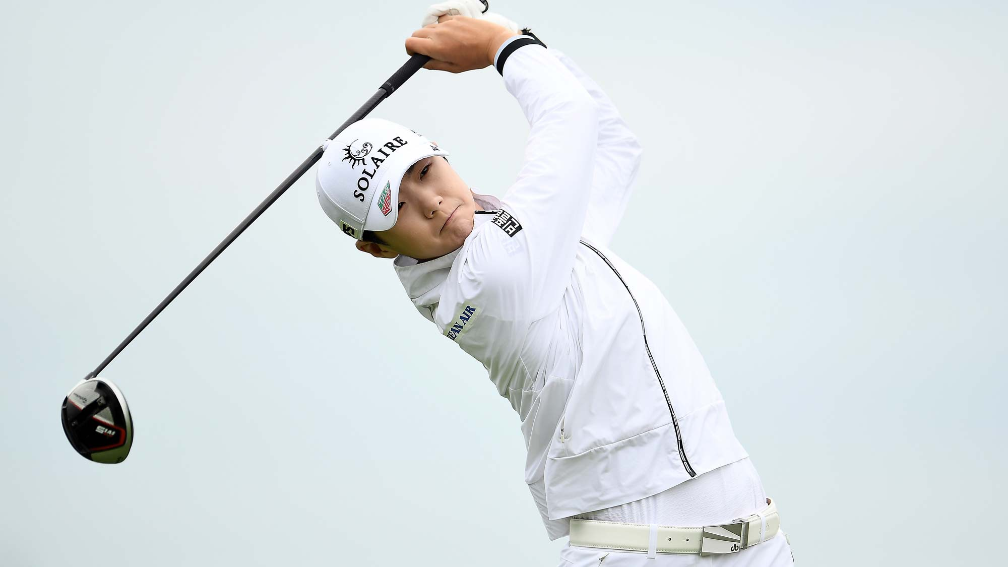 Sung Hyun Park of Korea hits her tee shot on the 11th hole during the second round of the KPMG PGA Championship