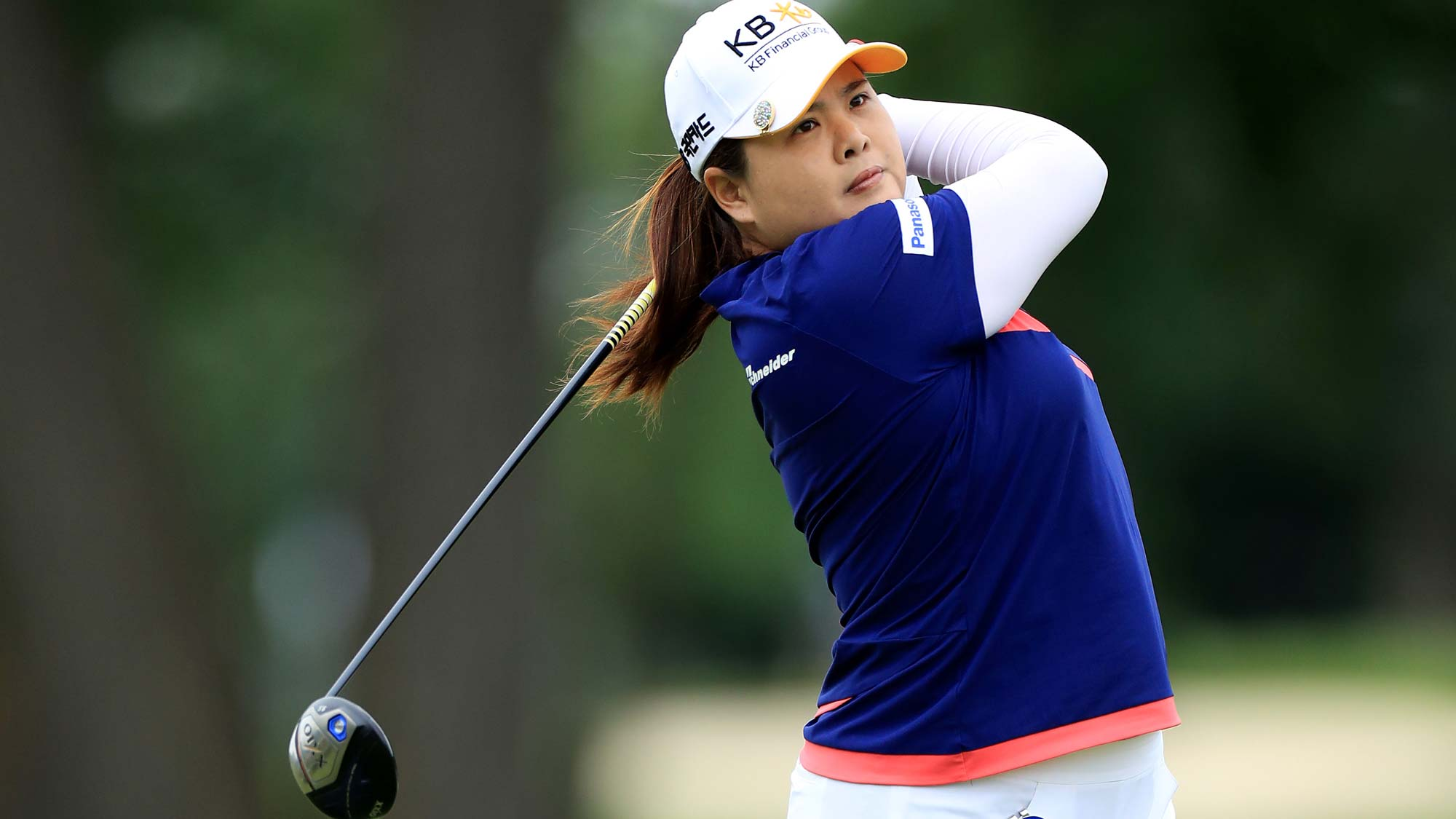 Inbee Park of South Korea plays her tee shot on the par 5, seventh hole during the third round of the 2019 Women's PGA Championship
