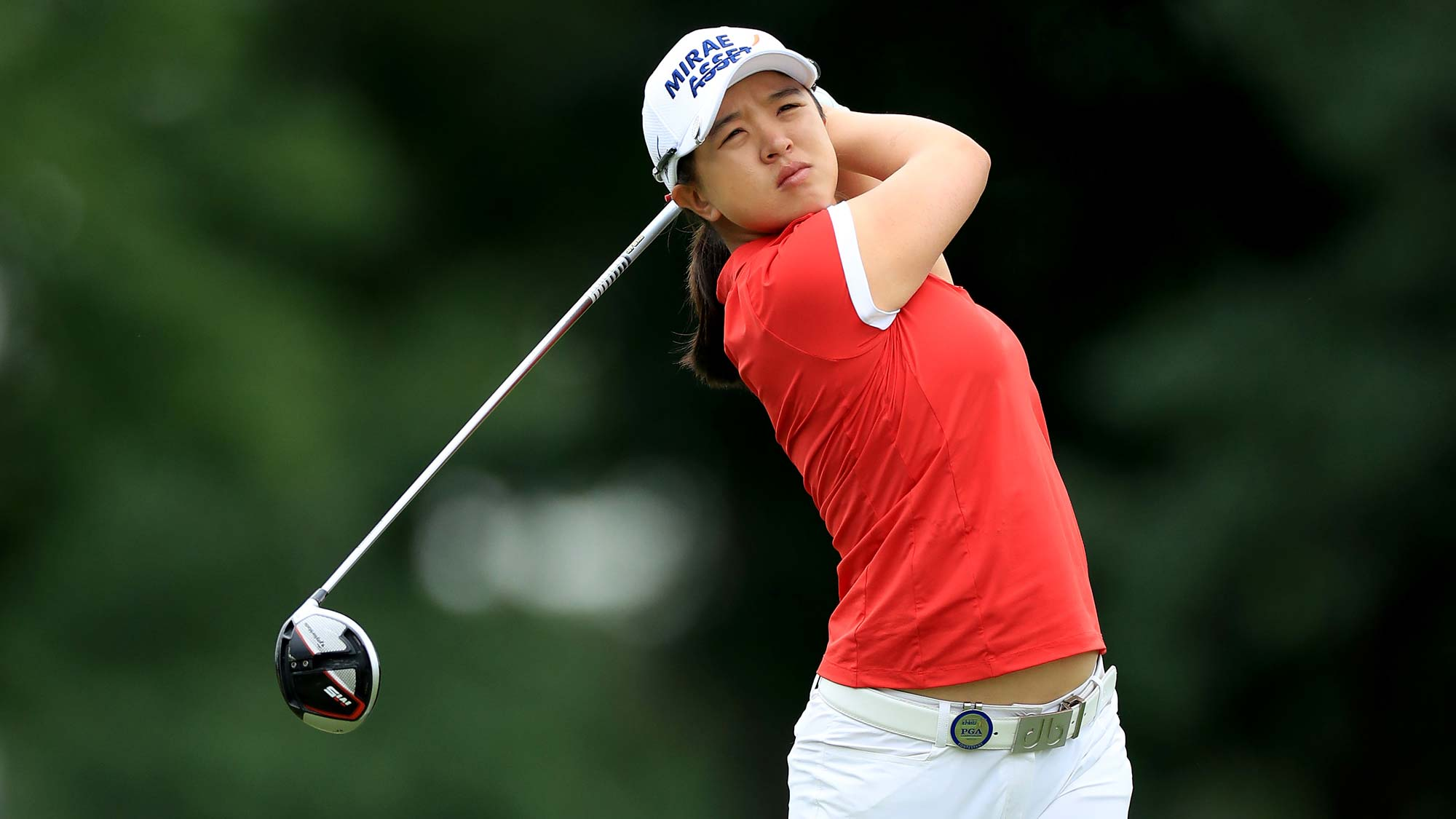 Sei Young Kim of South Korea plays her tee shot on the par 5, seventh hole during the third round of the 2019 Women's PGA Championship