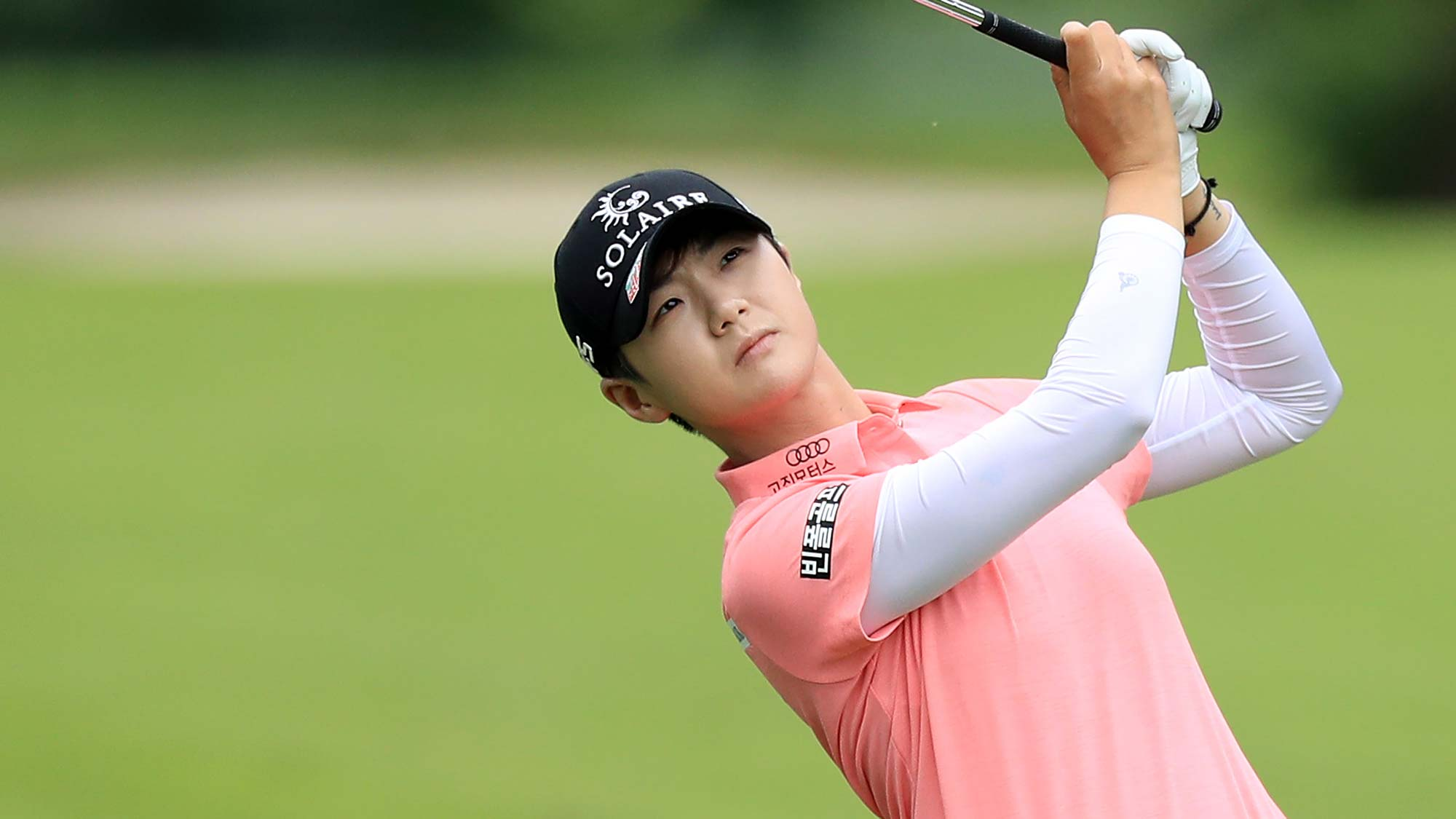 Sung Hyun Park of South Korea plays her second shot on the par 4, sixth hole during the third round of the 2019 Women's PGA Championship