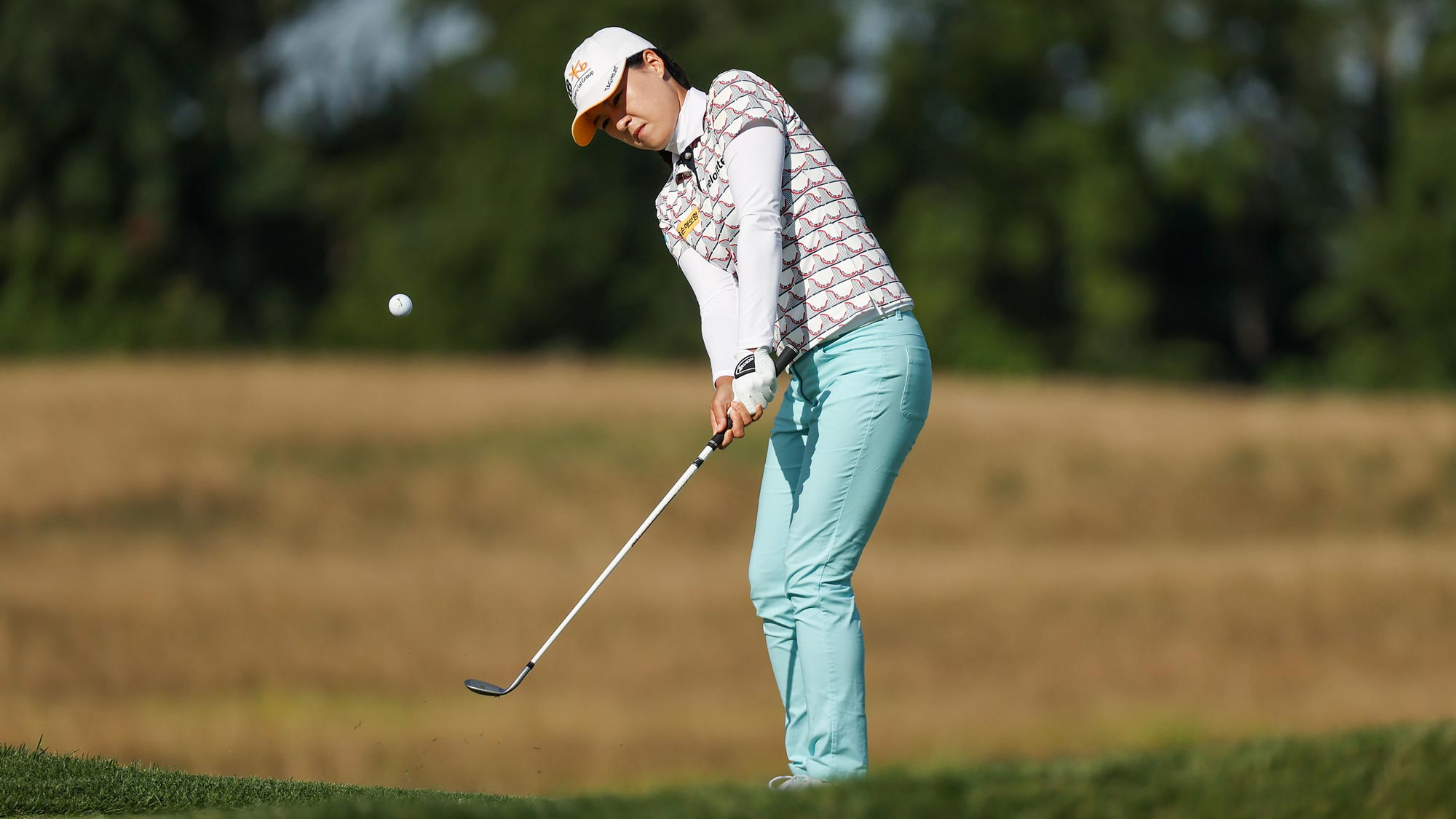In Gee Chun of Korea plays her shot from the on the fifth hole during the first round of the LPGA Drive On Championship