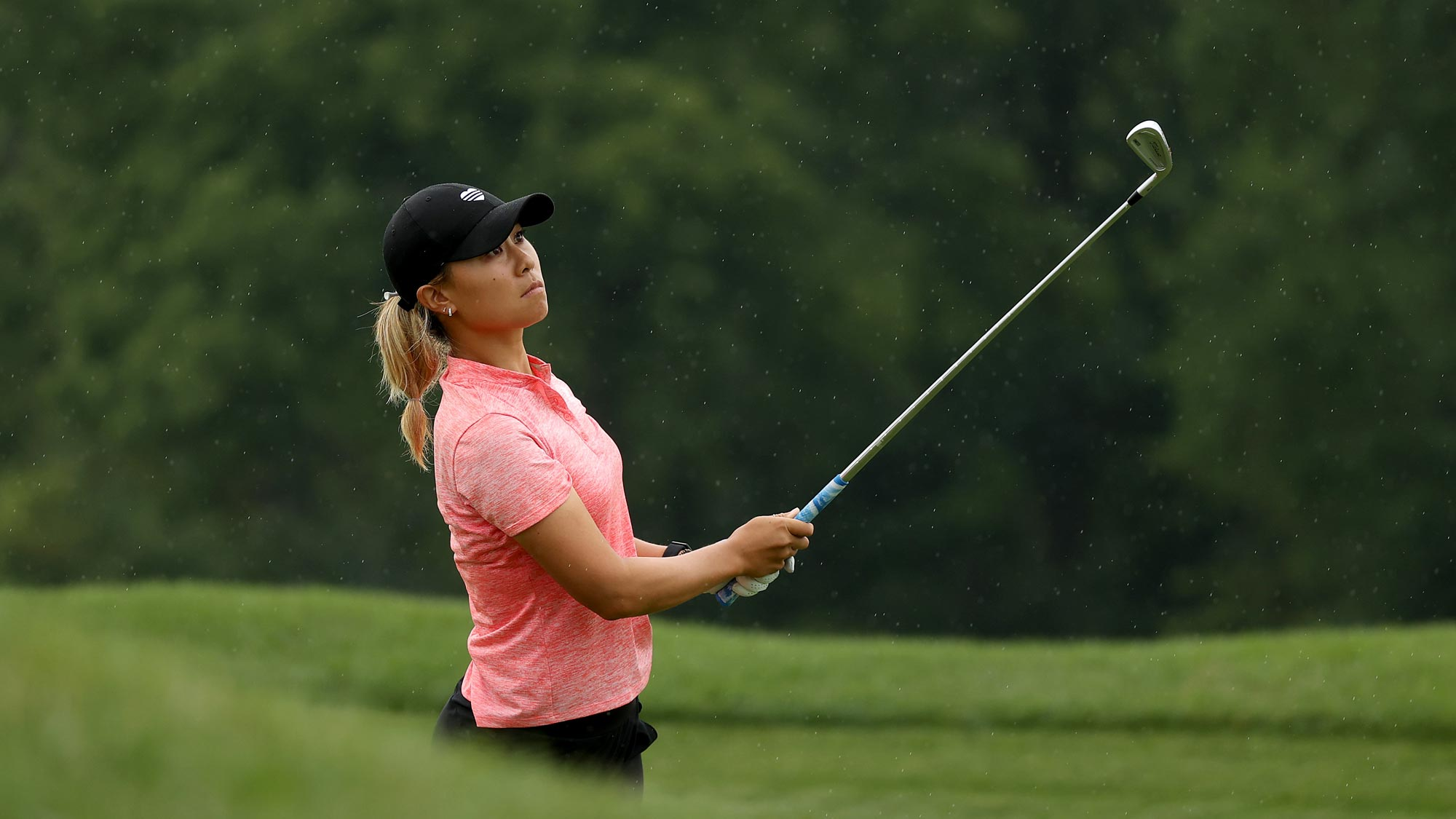 Danielle Kang plays her shot on the sixth hole during the second round of the LPGA Drive On Championship