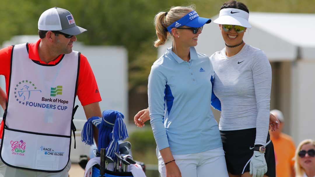 Jessica Korda and Michelle Wie