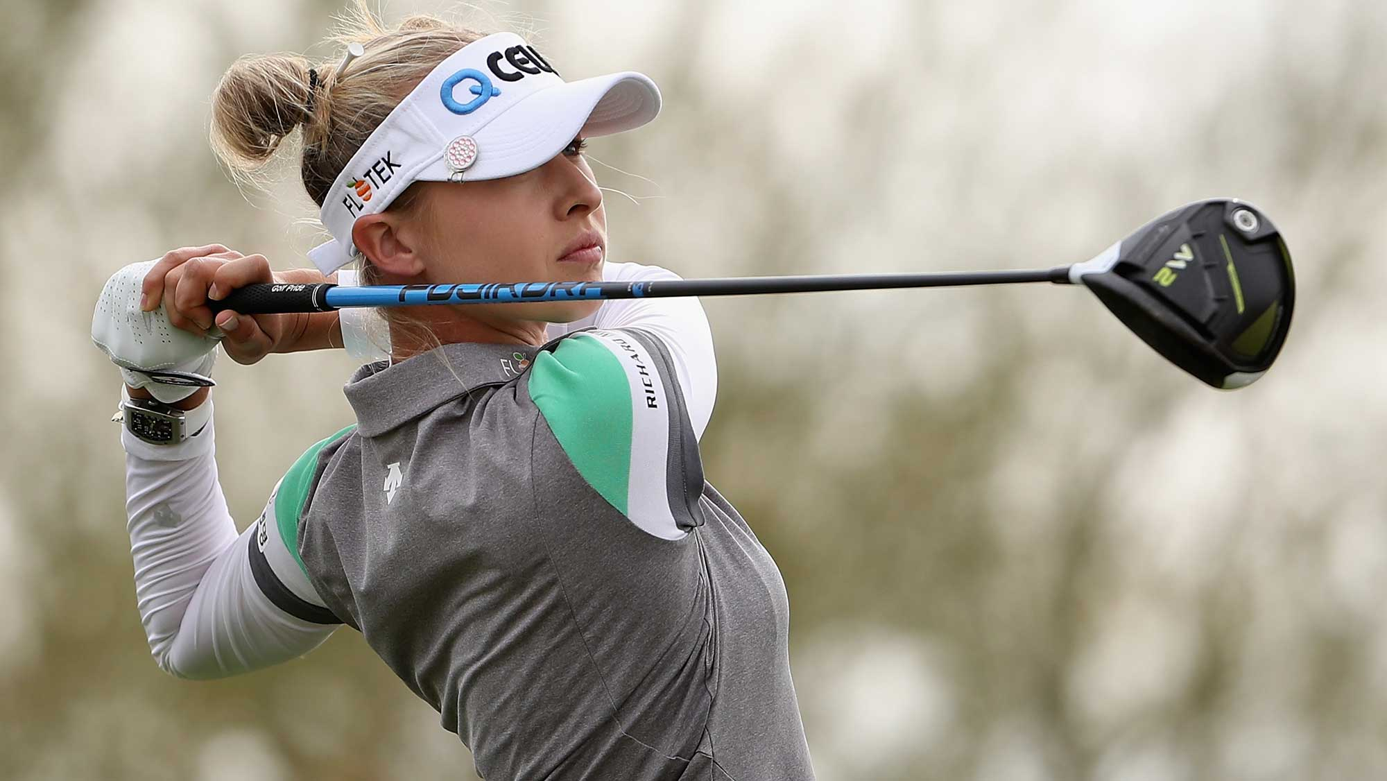 Nelly Korda Hits Driver at the Founders Cup