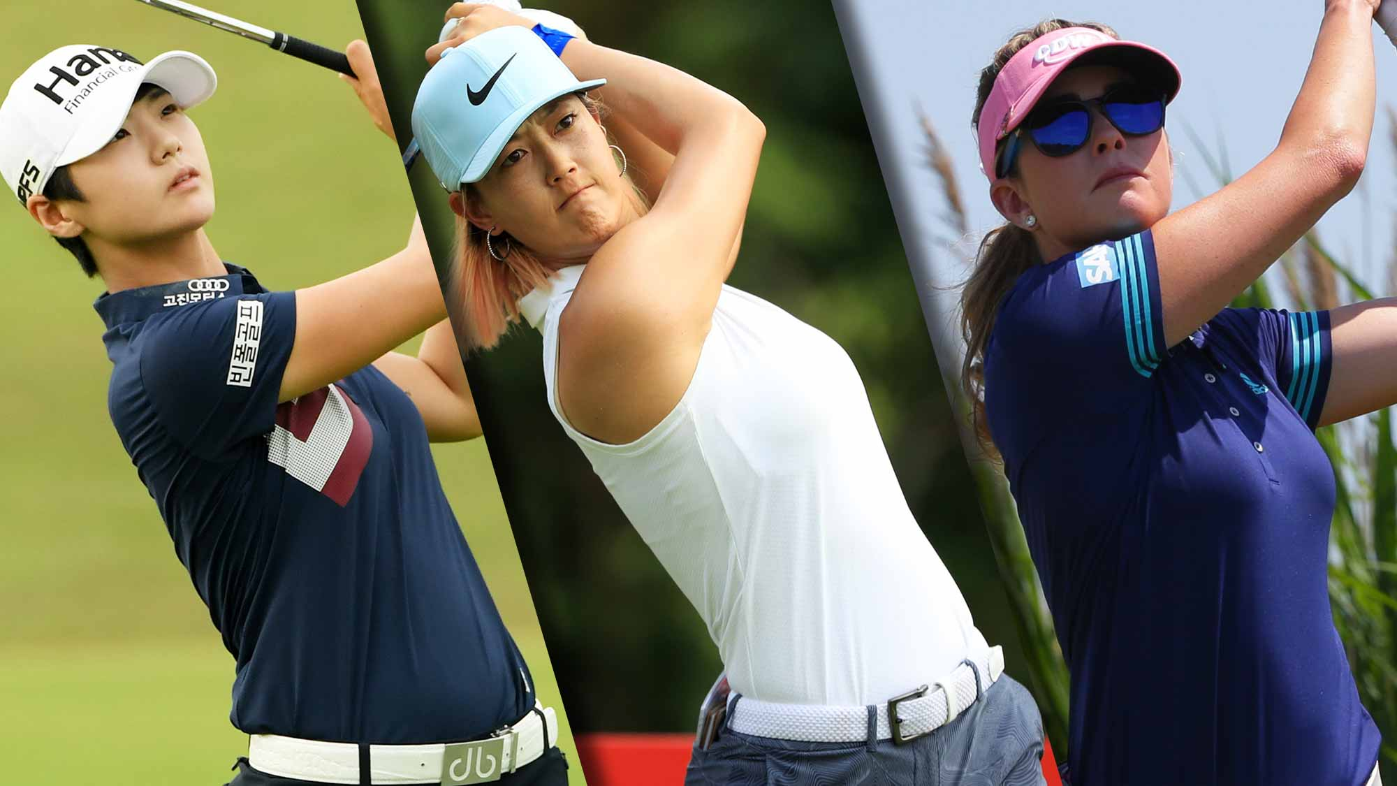 Sung Hyun Park, Michelle Wie and Paula Creamer