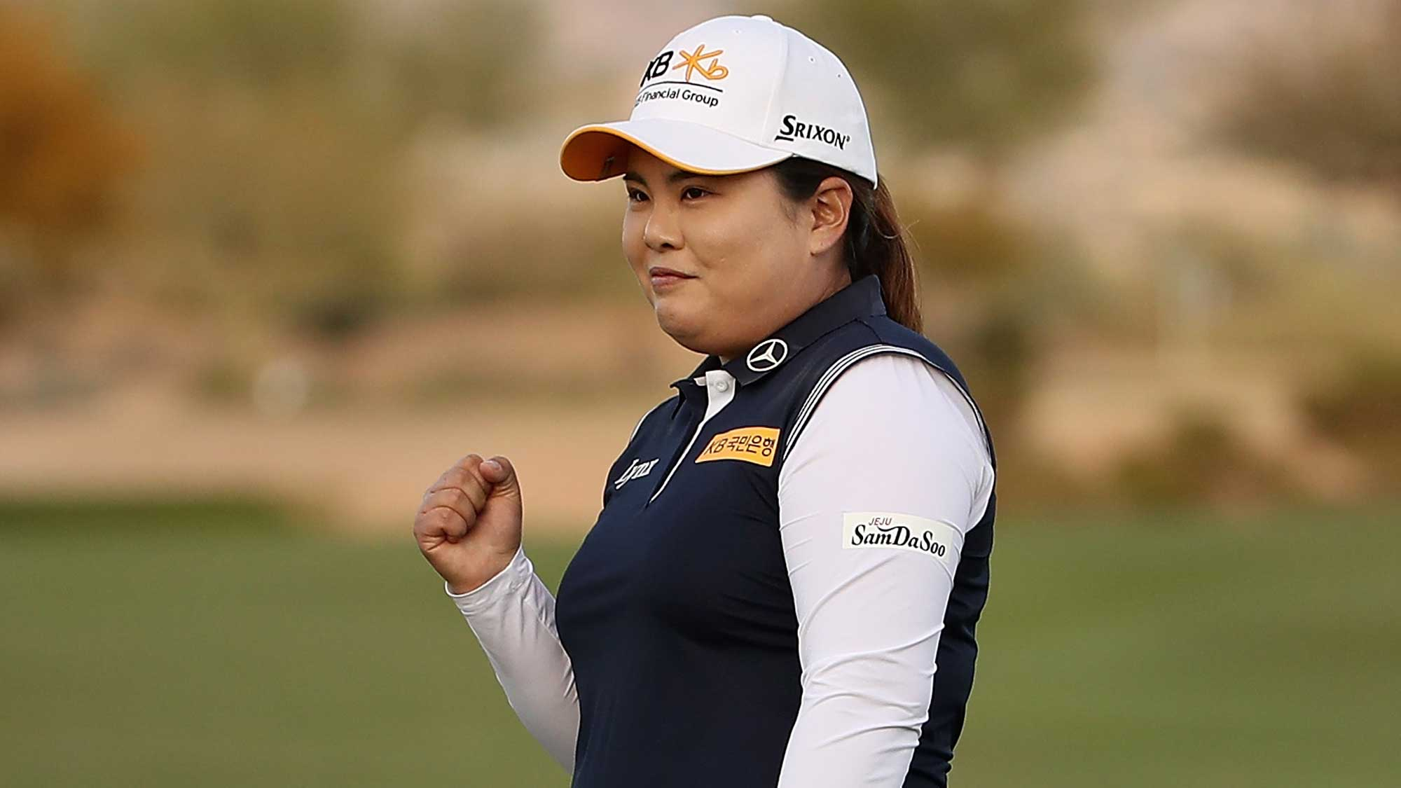 Inbee Park Fist Pump After Sealing Founders Cup Title