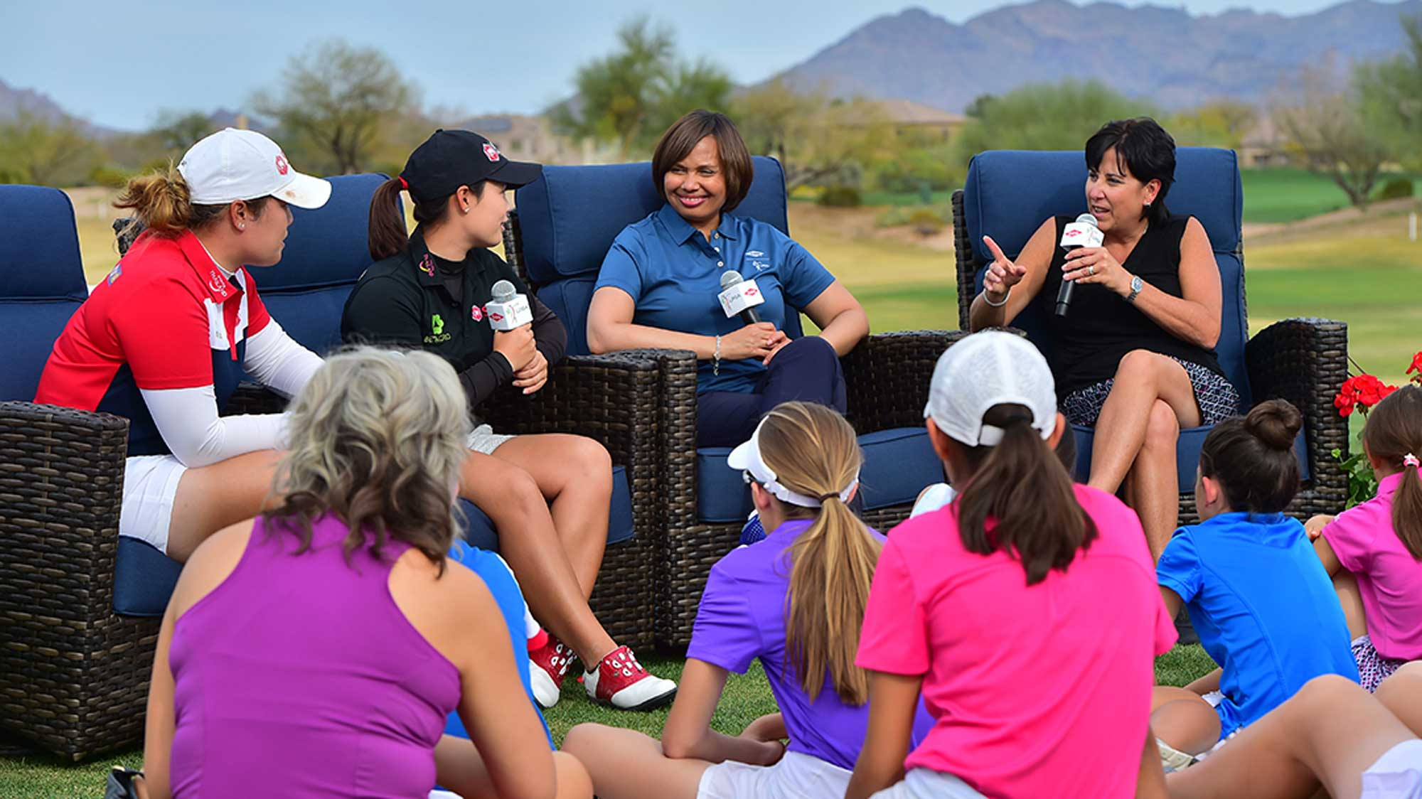 Dow, LPGA Players Talk to Kids at Founders Cup