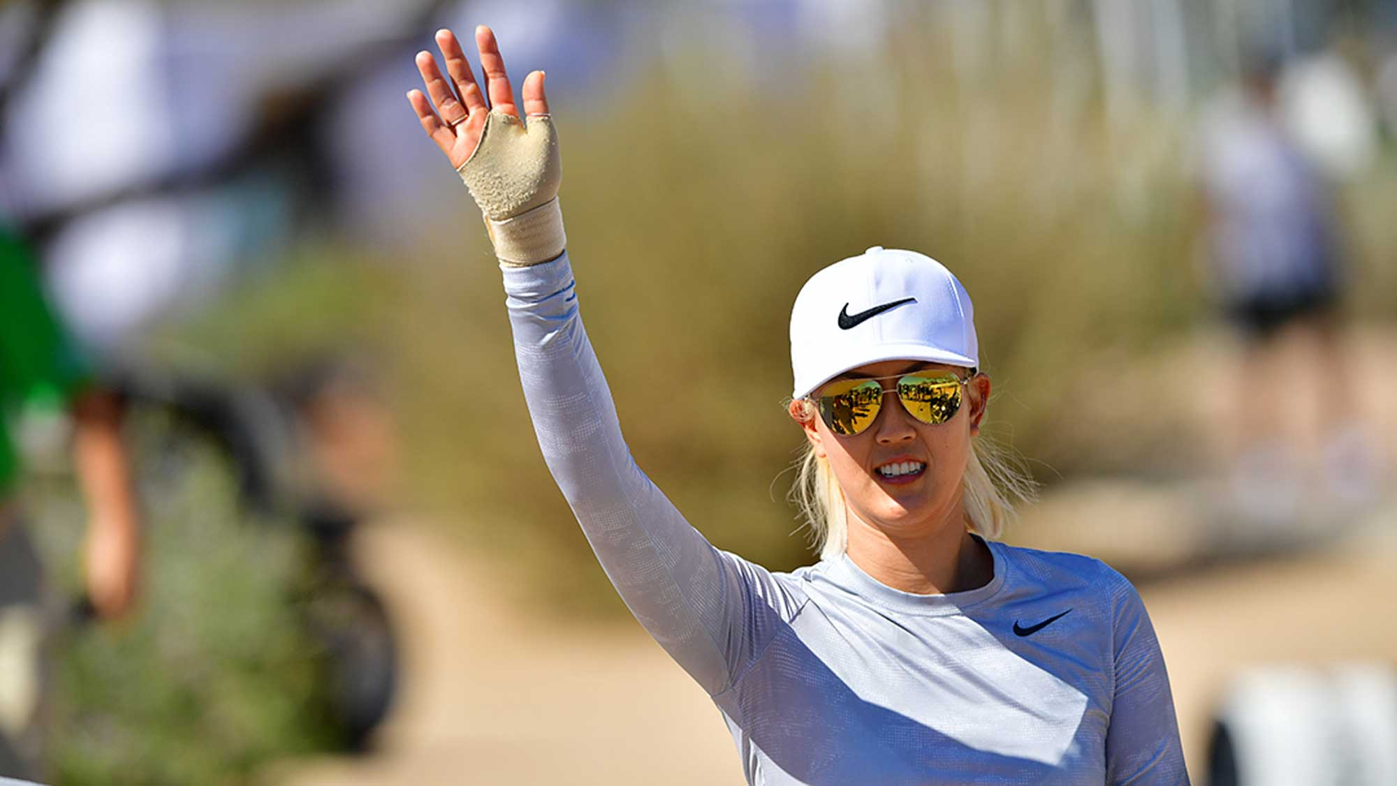 Michelle Wie Waves at Bank of Hope Founders Cup