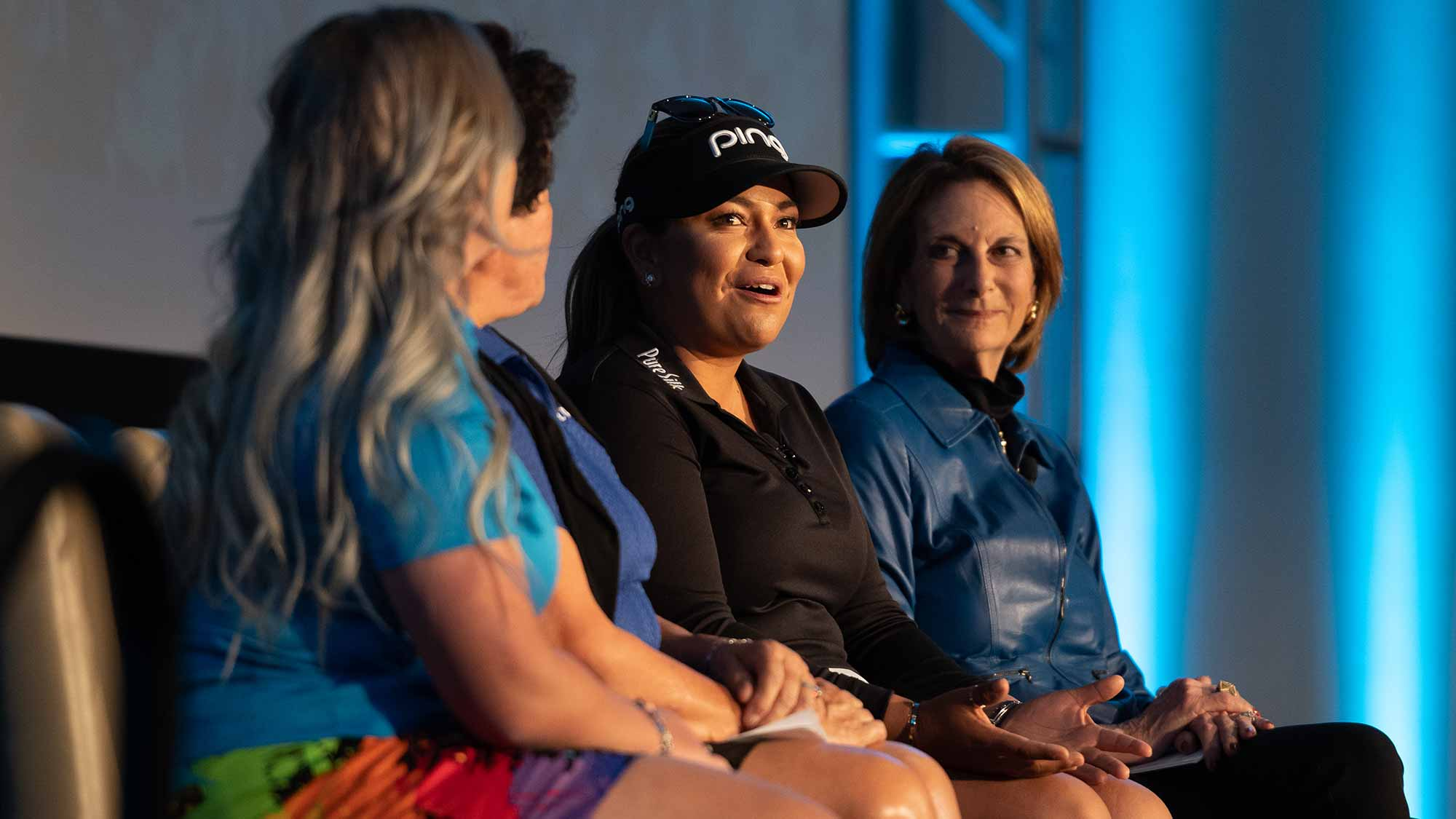 Lizette Salas speaks during the LPGA Announcement of new brand positioning encouraging girls to #DriveOn at JW Marriott Phoenix Desert Ridge on March 20, 2019 in Phoenix, Arizona