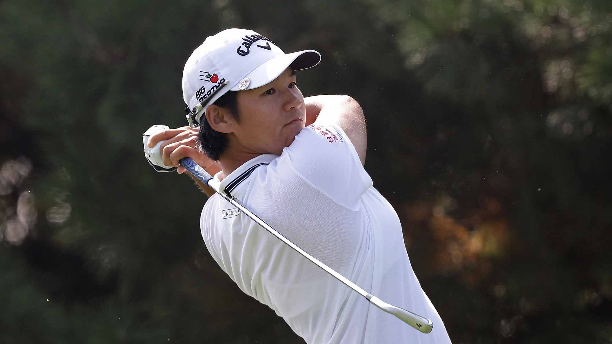 Yani Tseng of Taiwan plays a tee shot on the 4th hole during round three of the LPGA KEB Hana Bank