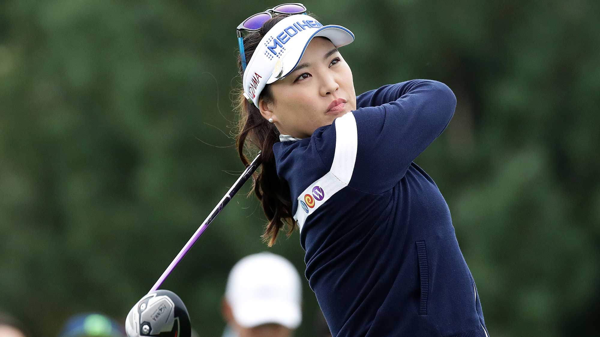So-Yeon Ryu of South Korea plays a tee shot on the 2nd hole during the first round of the LPGA KEB Hana Bank Championship