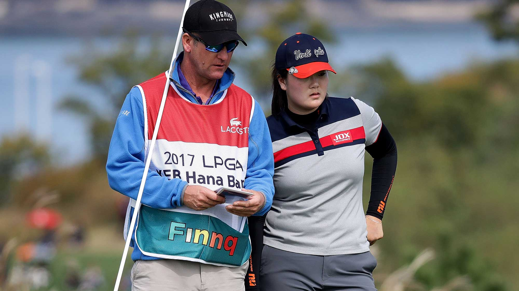 Angel Yin of United States on the 6th hole during the second round of the LPGA KEB Hana Bank Championship