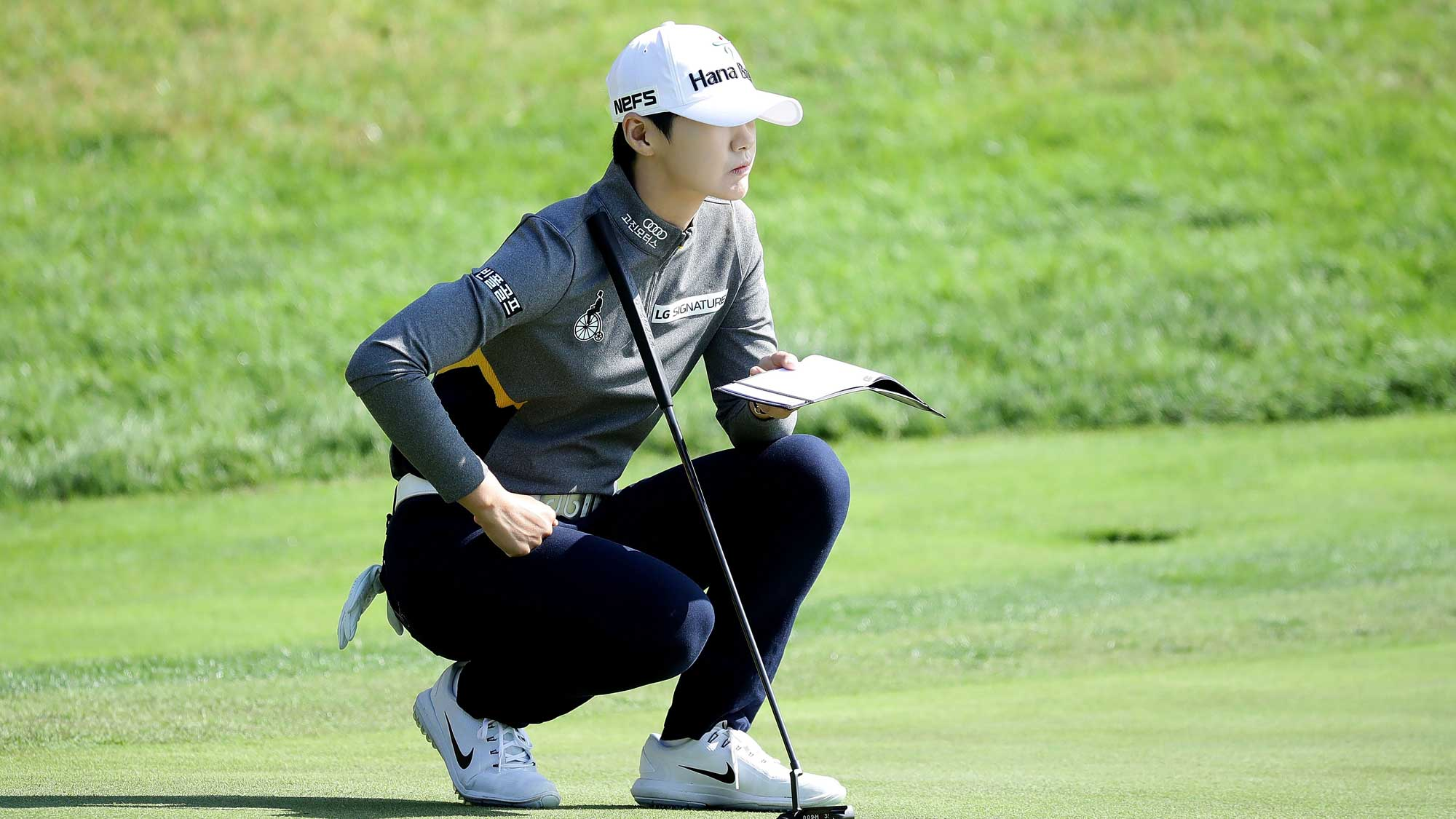 Sung-Hyun Park of South Korea on the 2nd hole during the second round of the LPGA KEB Hana Bank Championship