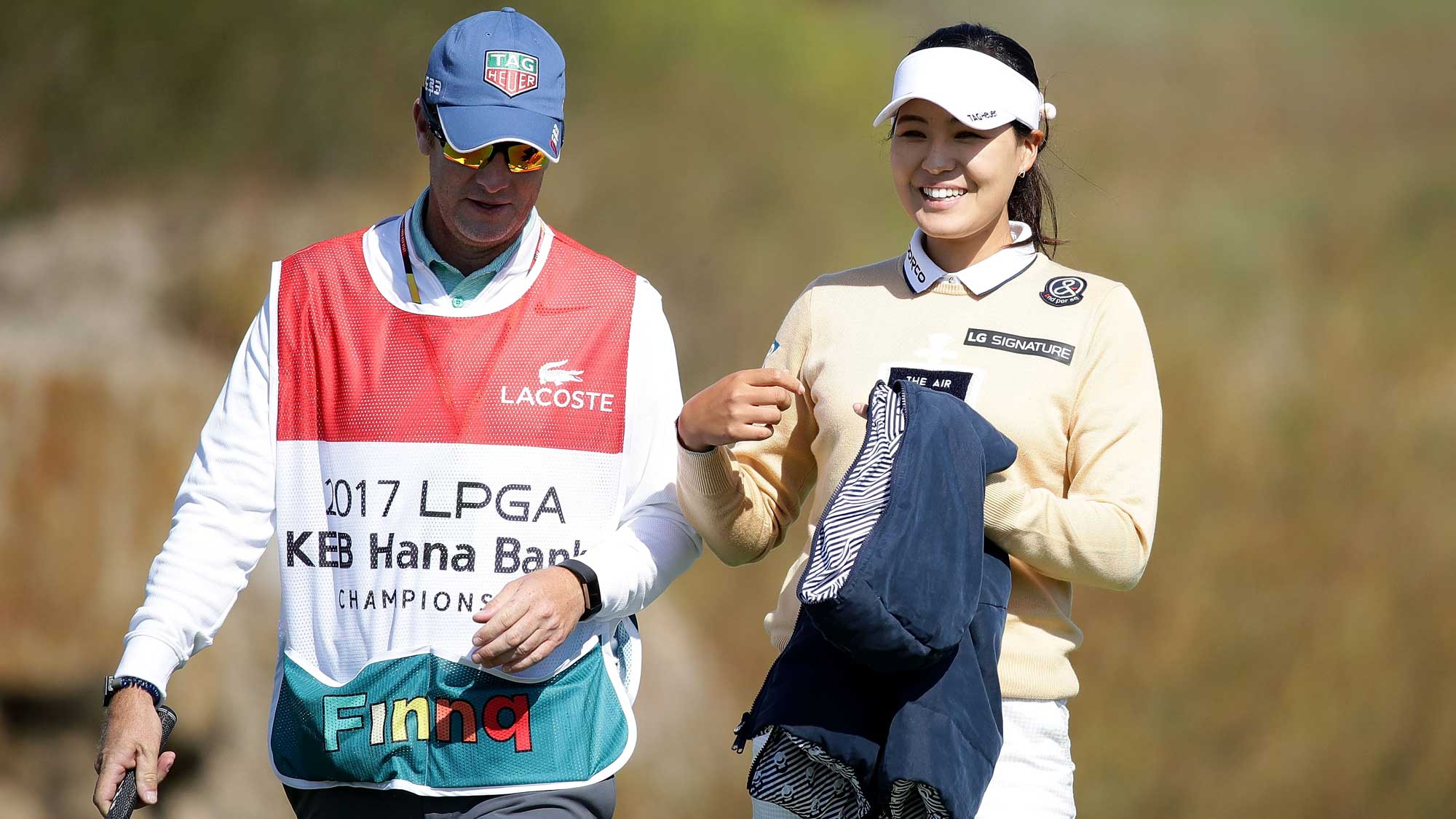 In-Gee Chun of South Korea on 6th hole during the final round of the LPGA KEB Hana Bank Championship