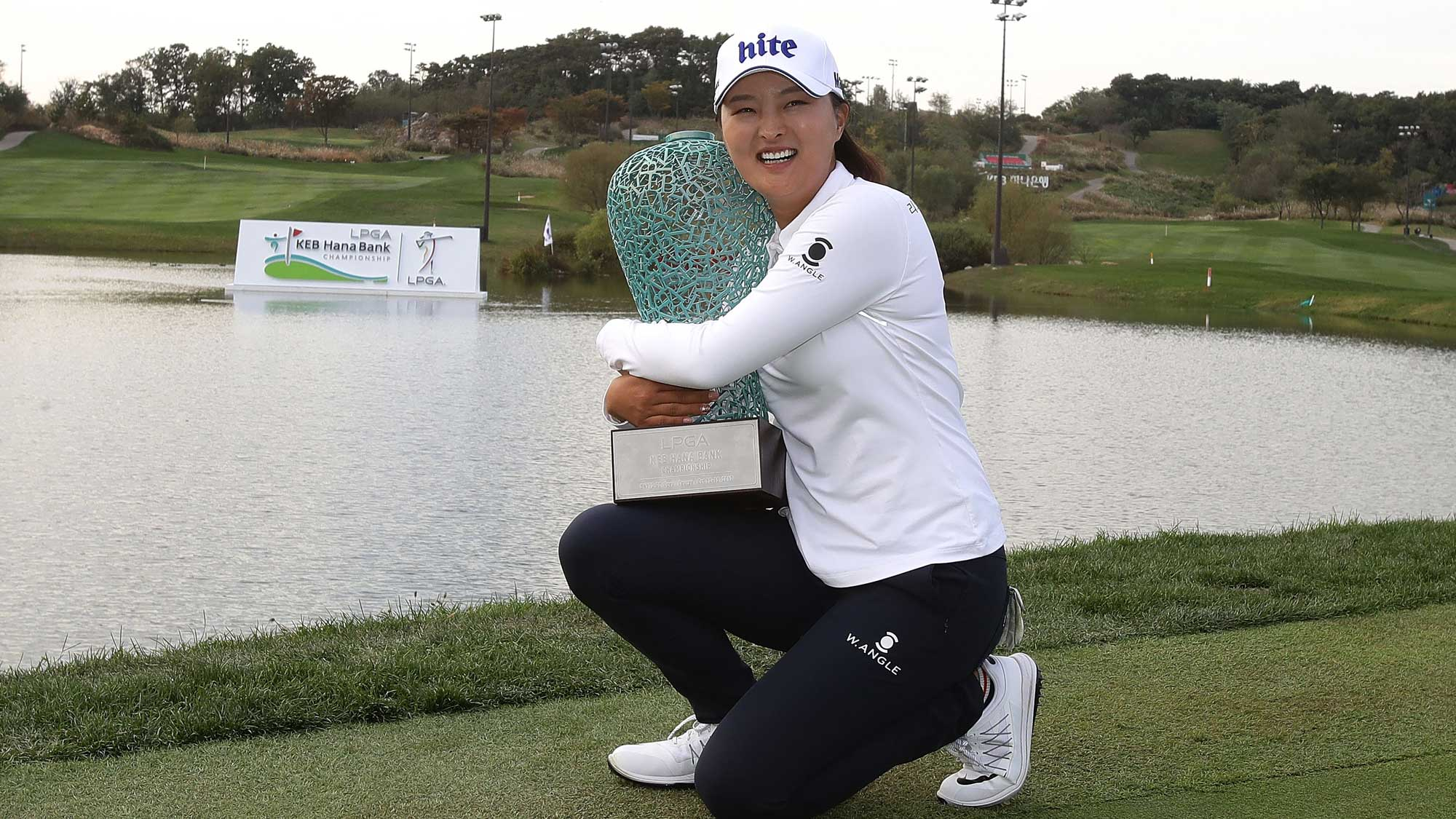 Jin Young Ko with KEB trophy