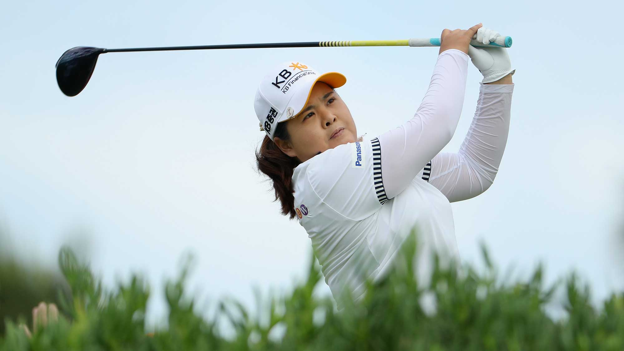 Inbee Park of the Republic of Korea plays a tee shot on the 13th hole during the second round of the LPGA LOTTE Championship Presented By Hershey