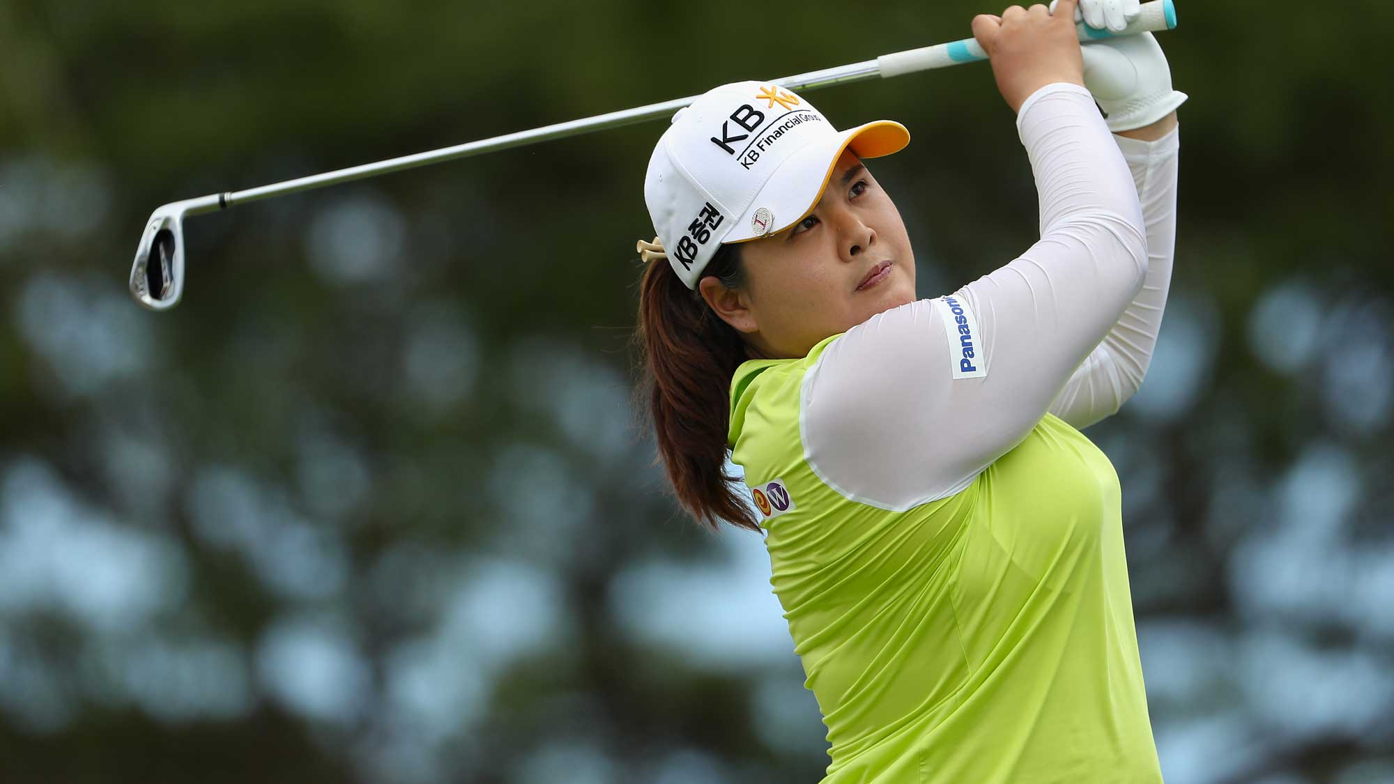 Inbee Park of the Republic of Korea plays a tee shot on the eighth hole during the third round of the LPGA LOTTE Championship Presented By Hershey