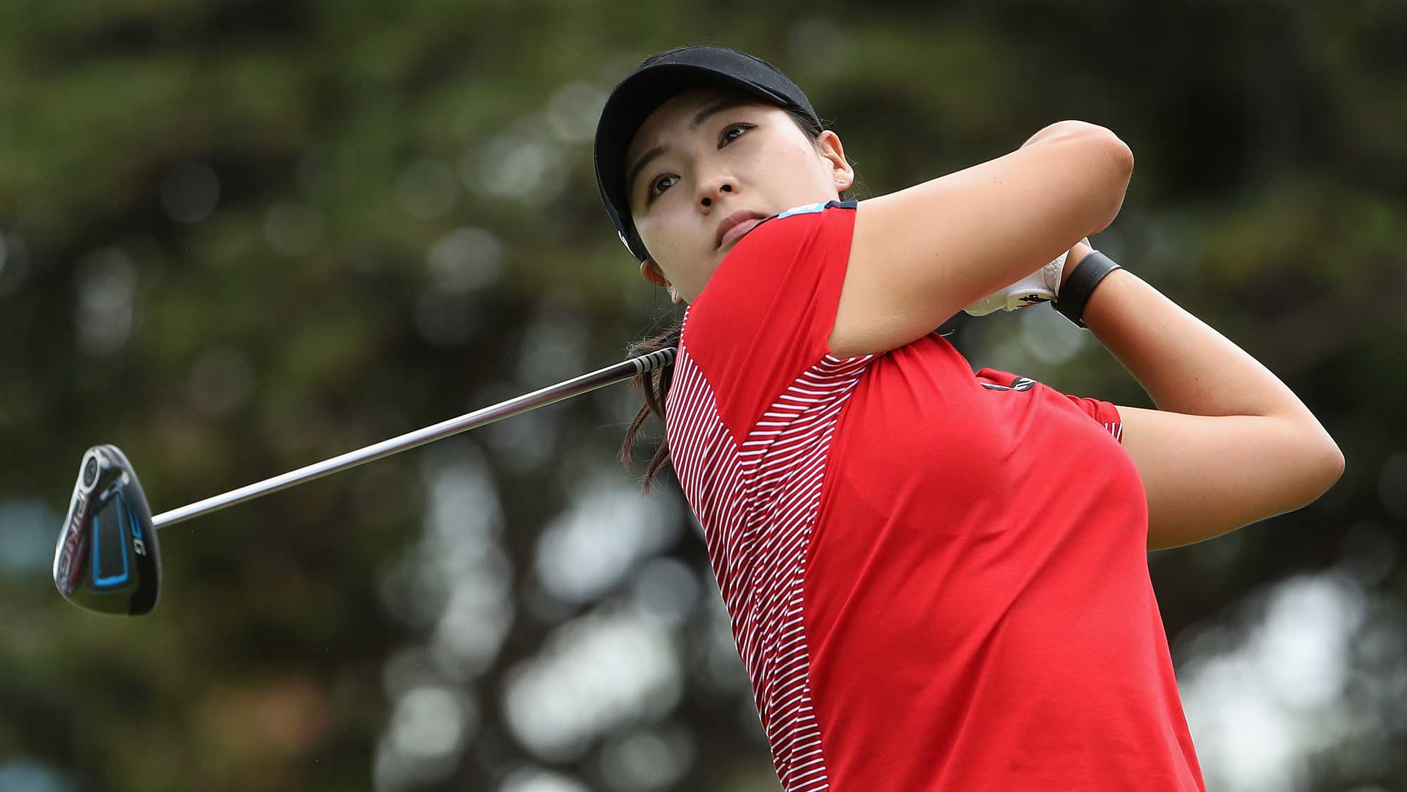 In Gee Chun of Republic of Korea plays a tee shot on the first hole during the final round of the LPGA LOTTE Championship Presented By Hershey
