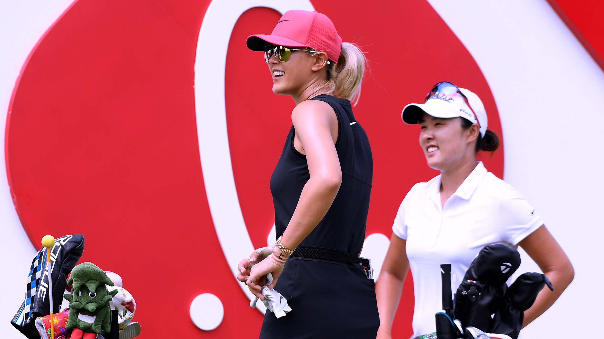 Michelle Wie Gets Ready to Tie on Saturday