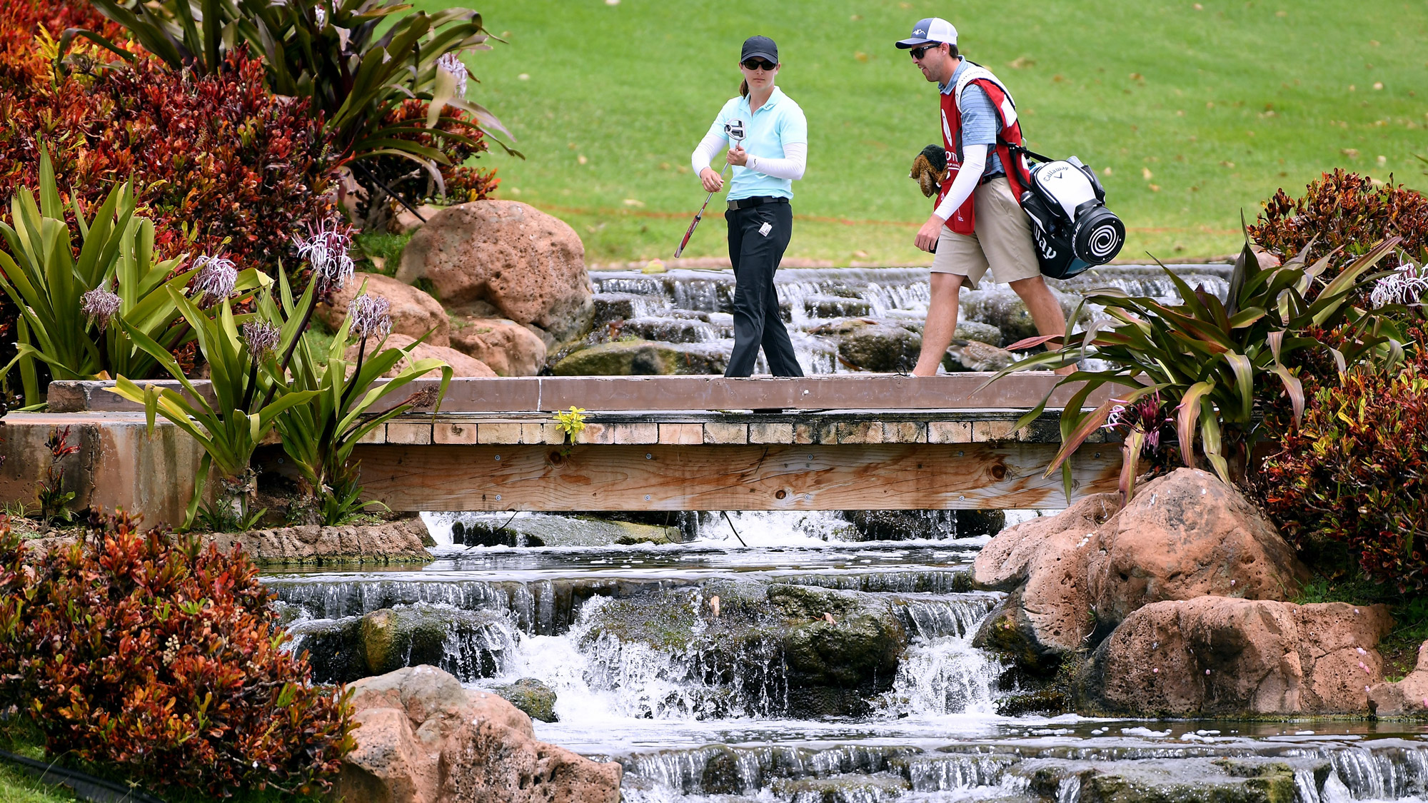 Lindy Duncan Crosses a Bridge at LOTTE Championship