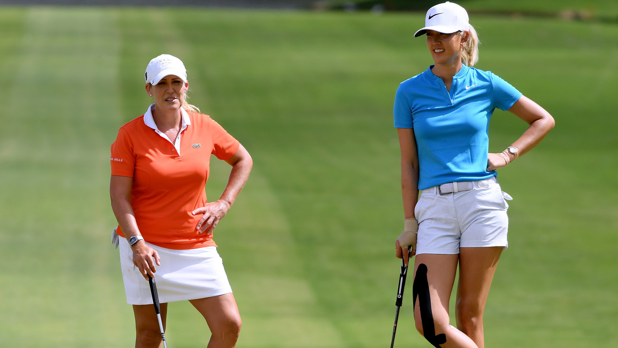 Michelle Wie and Crisitie Kerr at LOTTE Championship