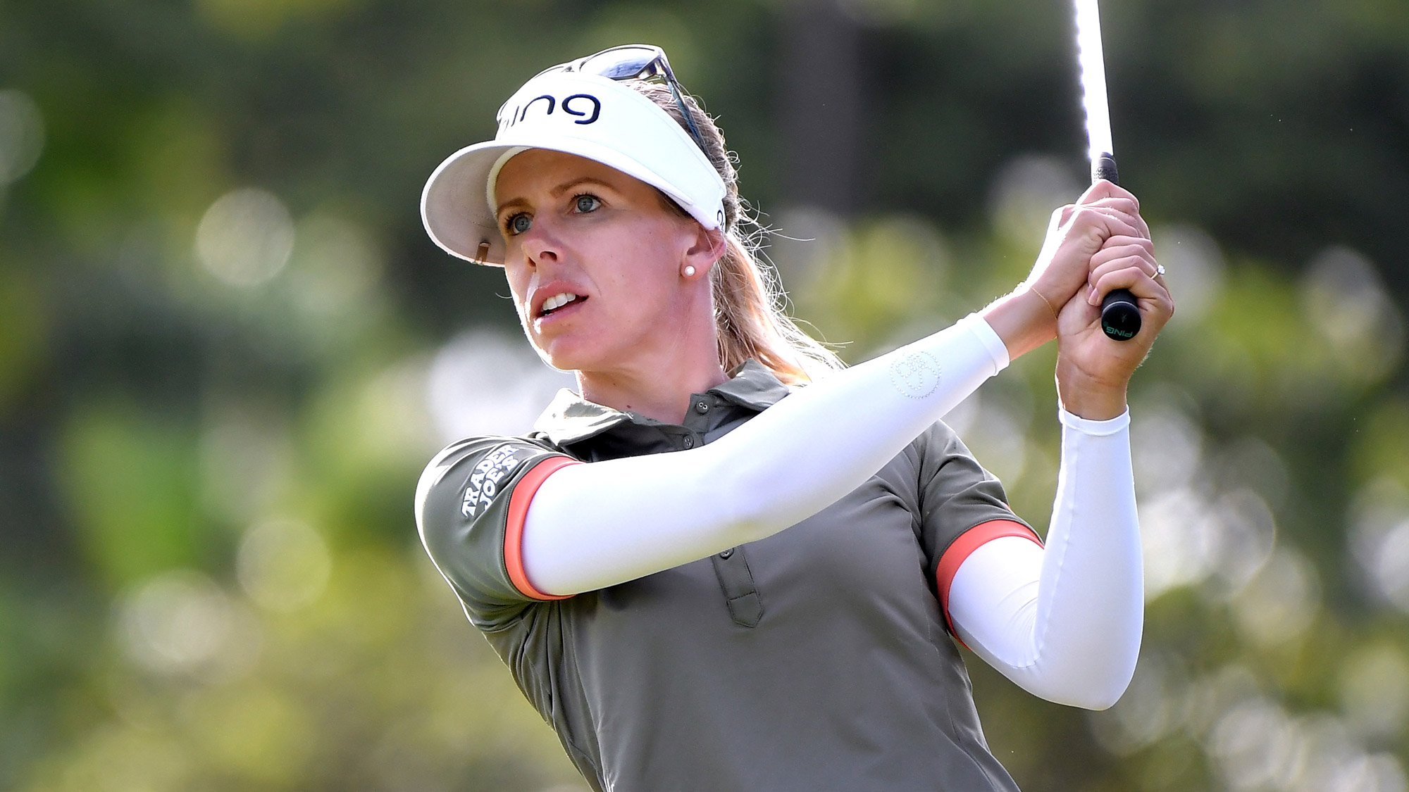 Pernilla Lindberg Stares it Down in Round Two of LOTTE Championship