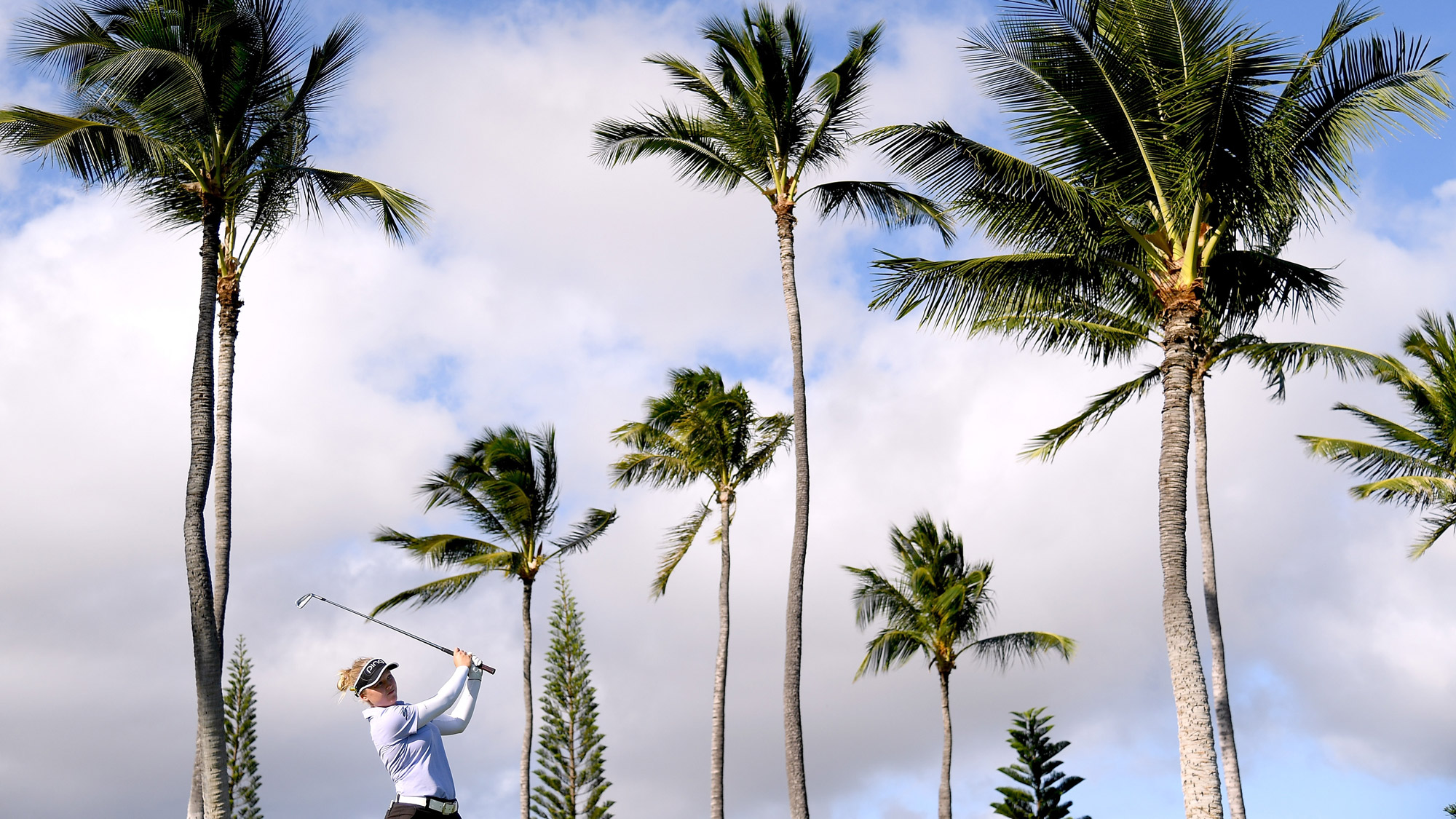 Brooke Henderson Cards a 68 in the Wind of Hawaii