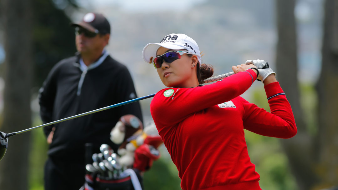 Minjee Lee plays a practice round before the 2019 LPGA MEDIHEAL Championship