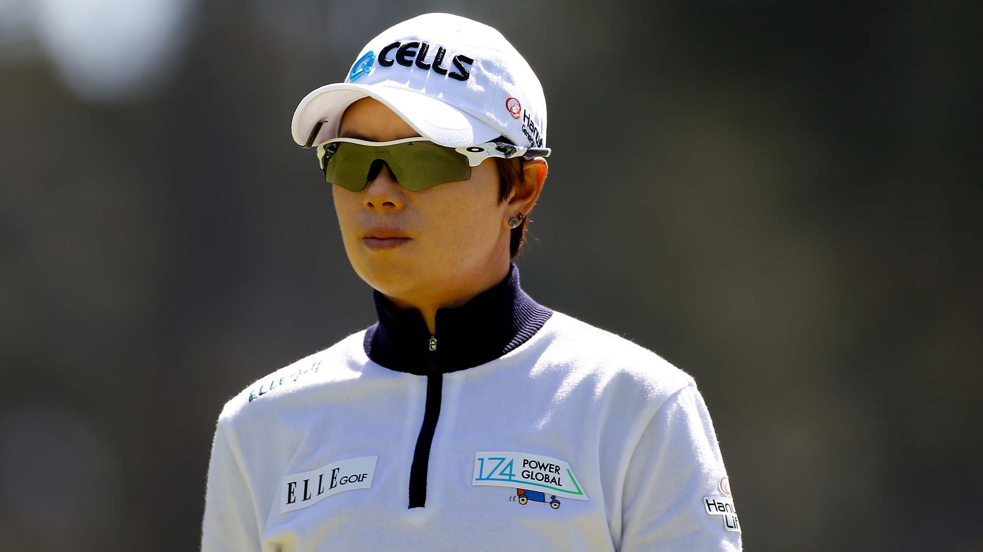 Eun-Hee Ji of South Korea watches on the 10th hole during the first round of the LPGA Mediheal Championship
