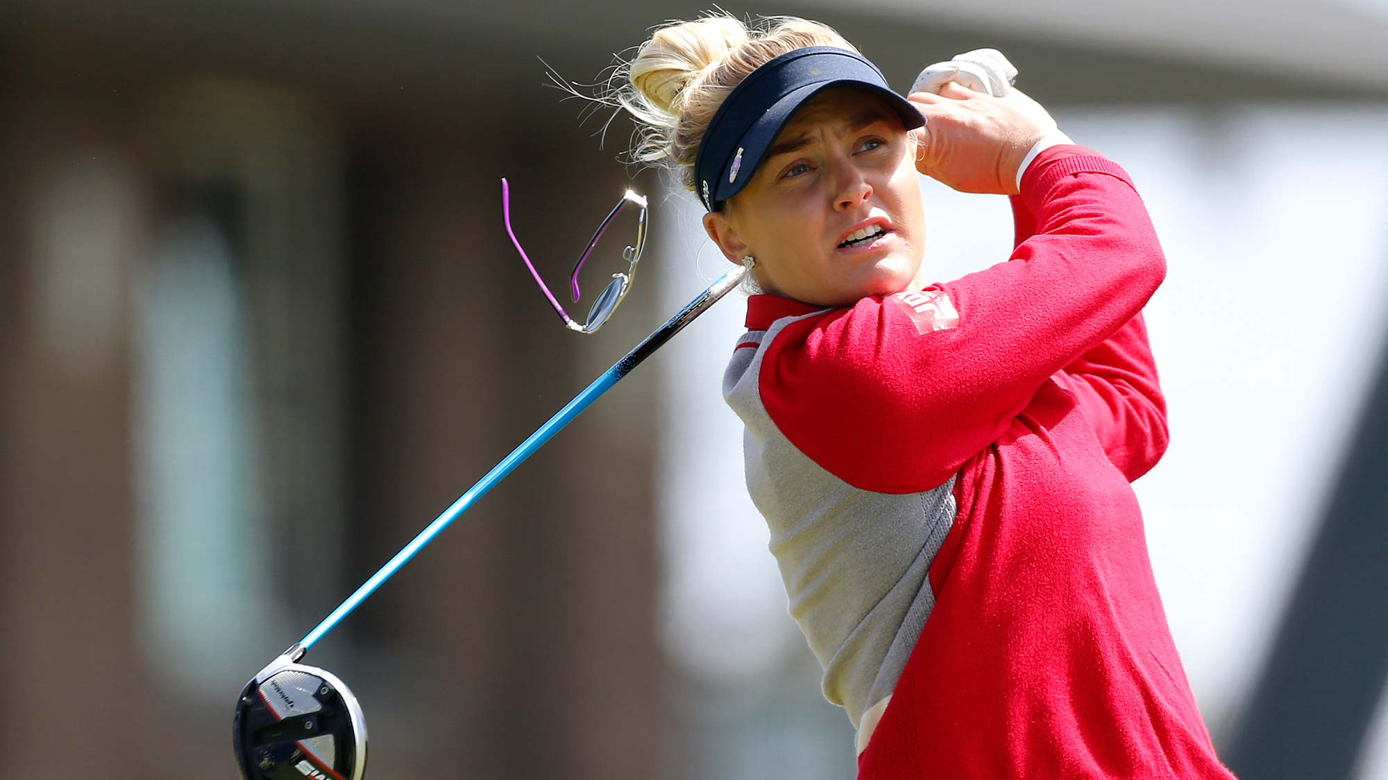 Charley Hull of England hits on the 10th hole during the second round of the LPGA Mediheal Championship