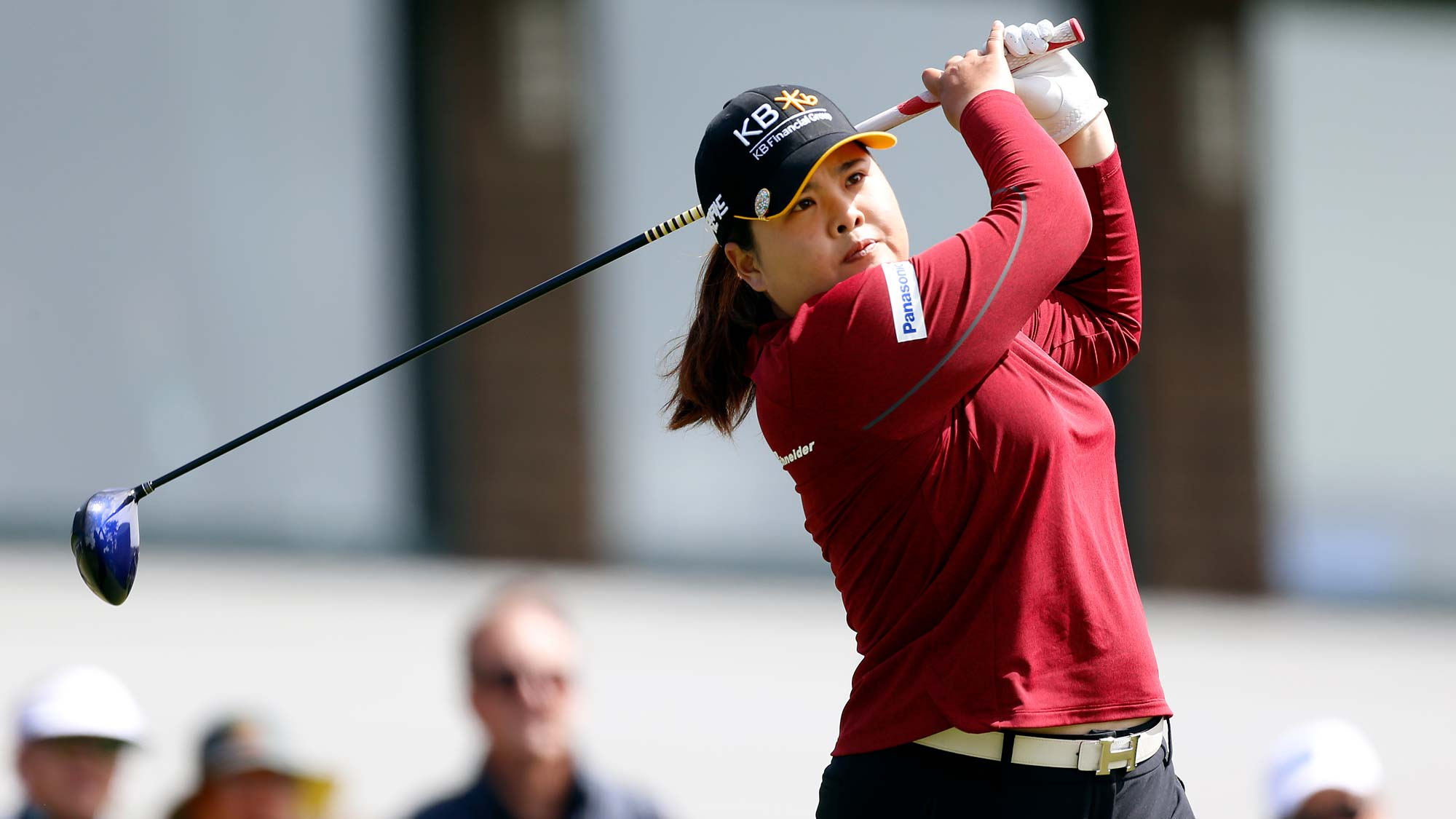 Inbee Park of South Korea hits on the 10th hole during the second round of the LPGA Mediheal Championship