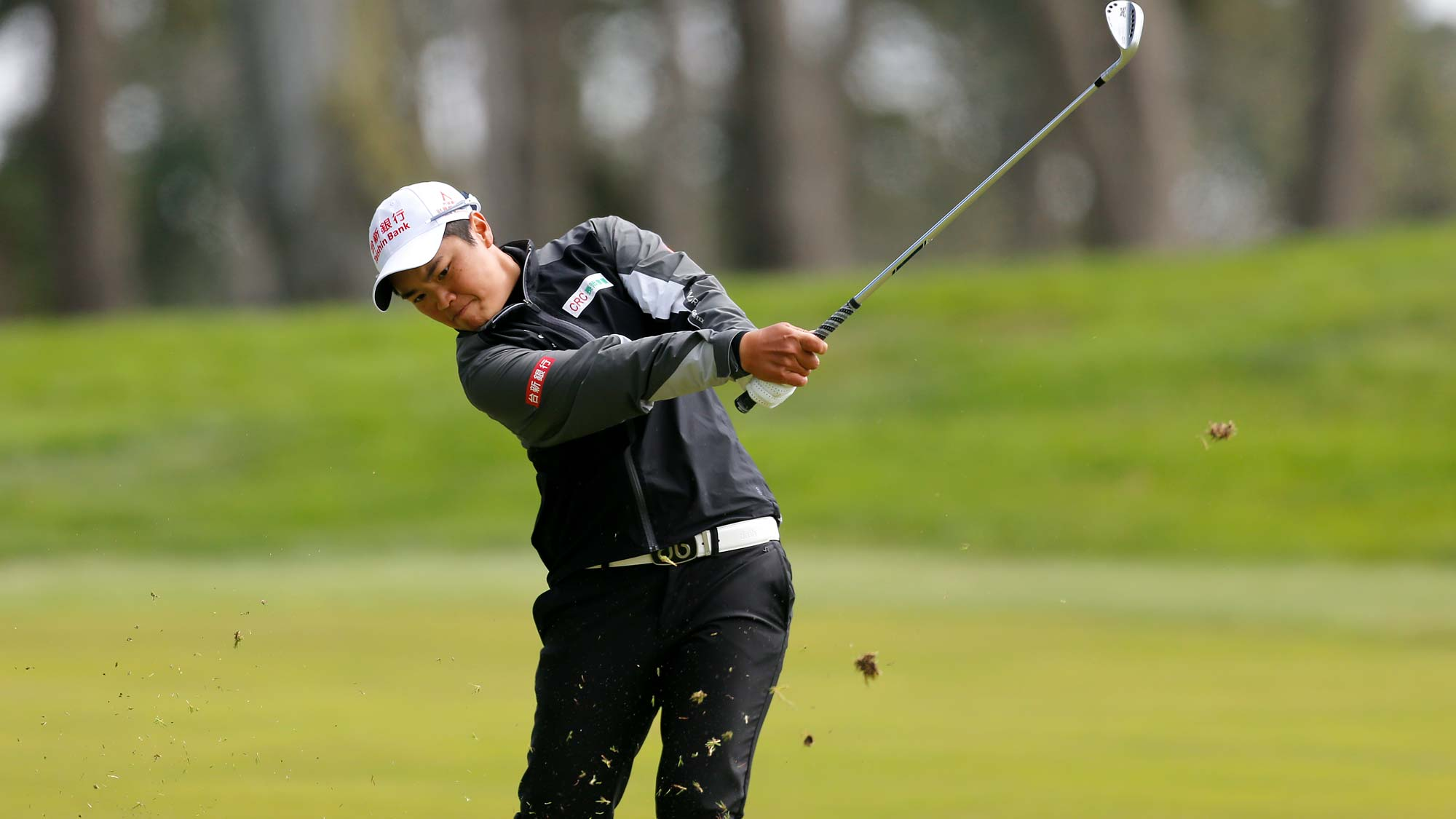 Peiyun Chien of China hits on the 11th hole during the third round of the LPGA Mediheal Championship