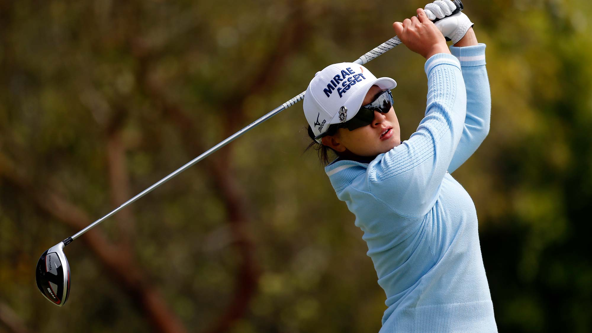 Sei Young Kim of South Korea hits on the 2nd hole during the third round of the LPGA Mediheal Championship