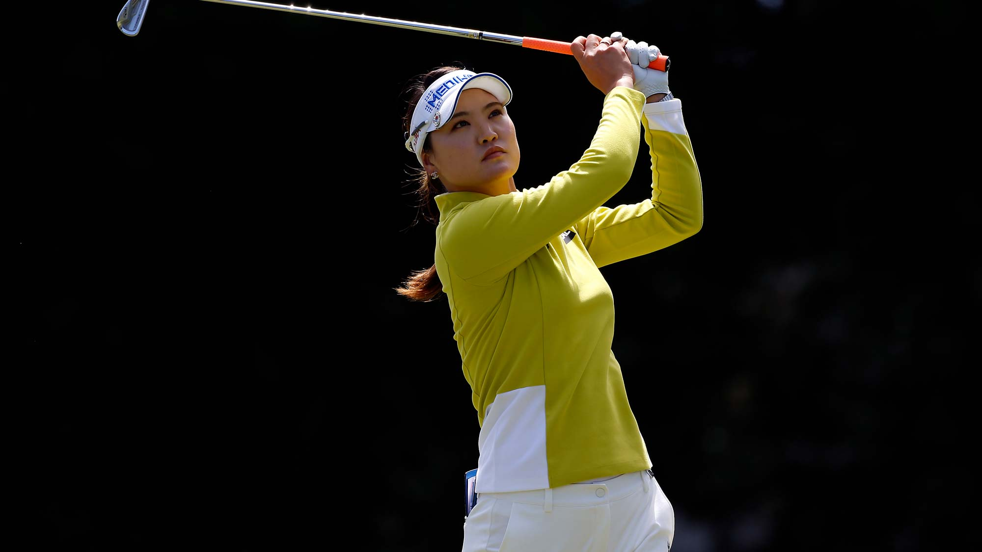 So Yeon Ryu of South Korea hits on the 3rd hole during the third round of the LPGA Mediheal Championship