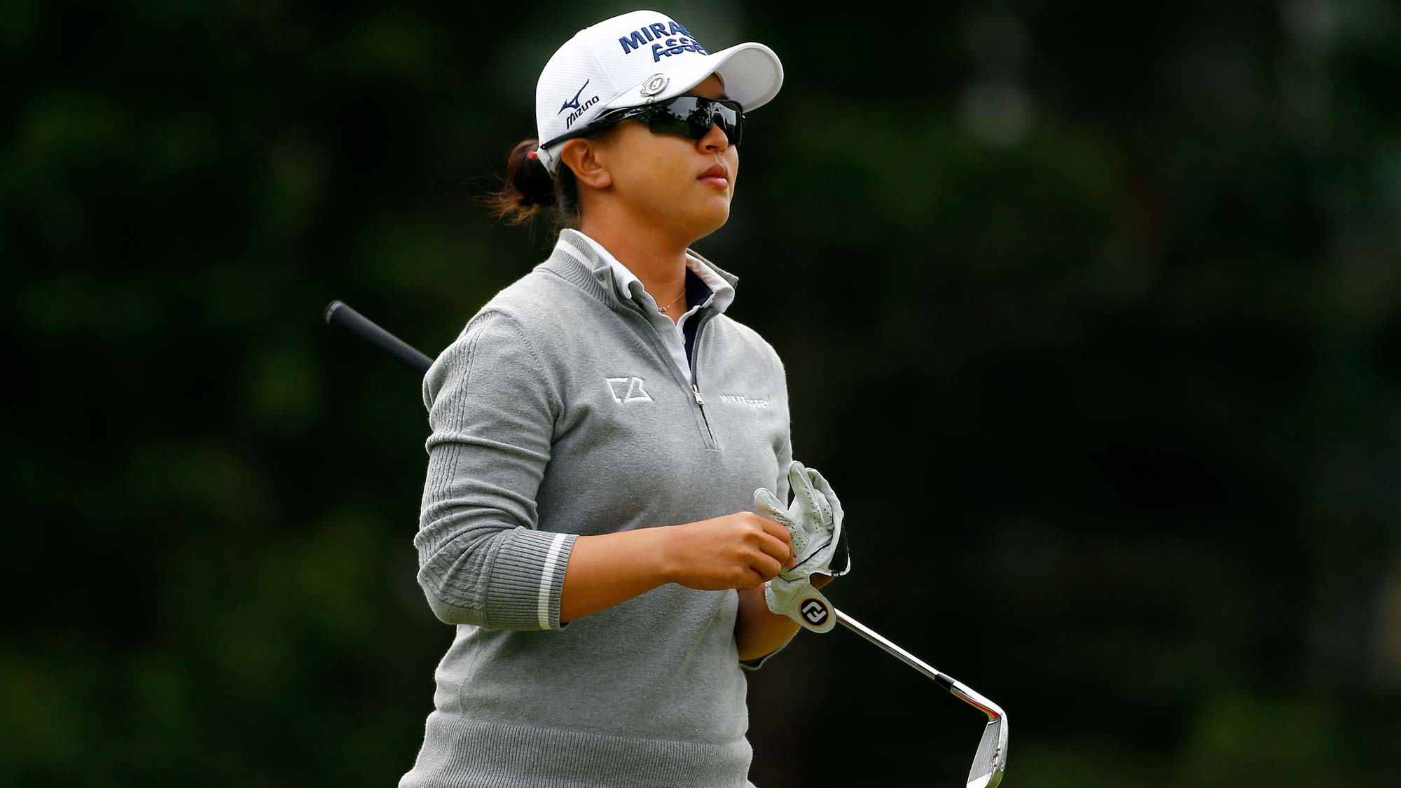 Sei Young Kim of South Korea walks on the 3rd hole during the final round of the LPGA Mediheal Championship