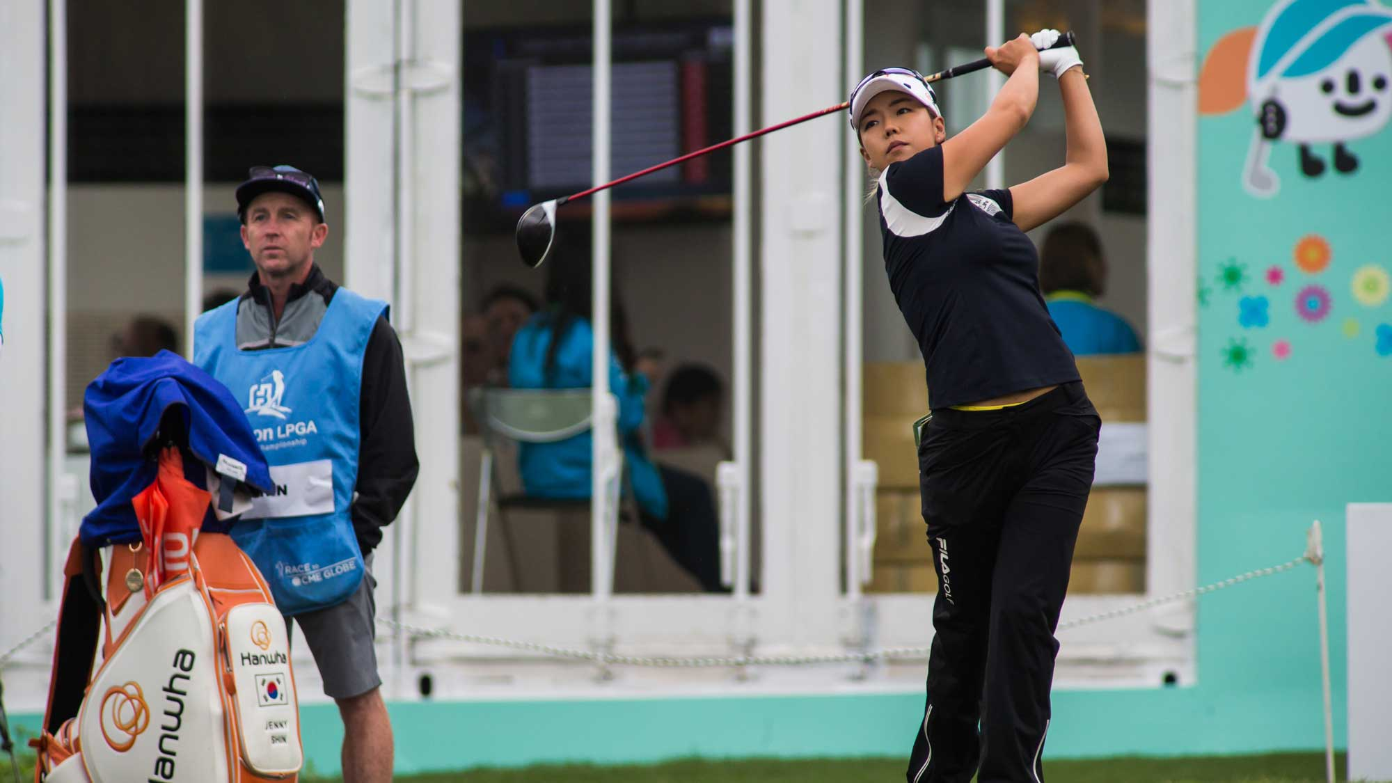 Jenny Shin of Republic of Korea plays a shot in the Fubon Taiwan LPGA Championship
