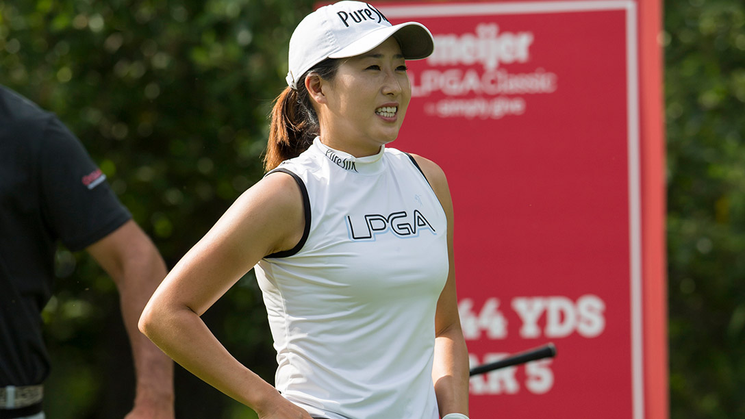 Jennifer Song during a practice round prior to the 2017 Meijer LPGA Classic For Simply Give
