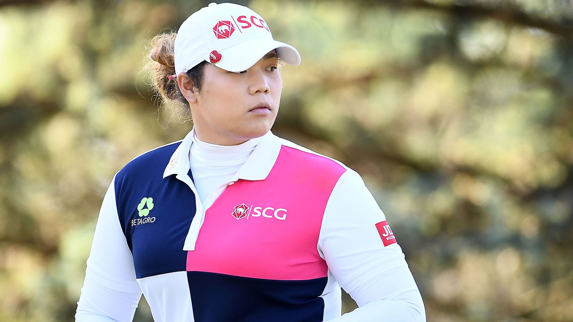 Ariya Jutanugarn Looks On at the Meijer LPGA Classic
