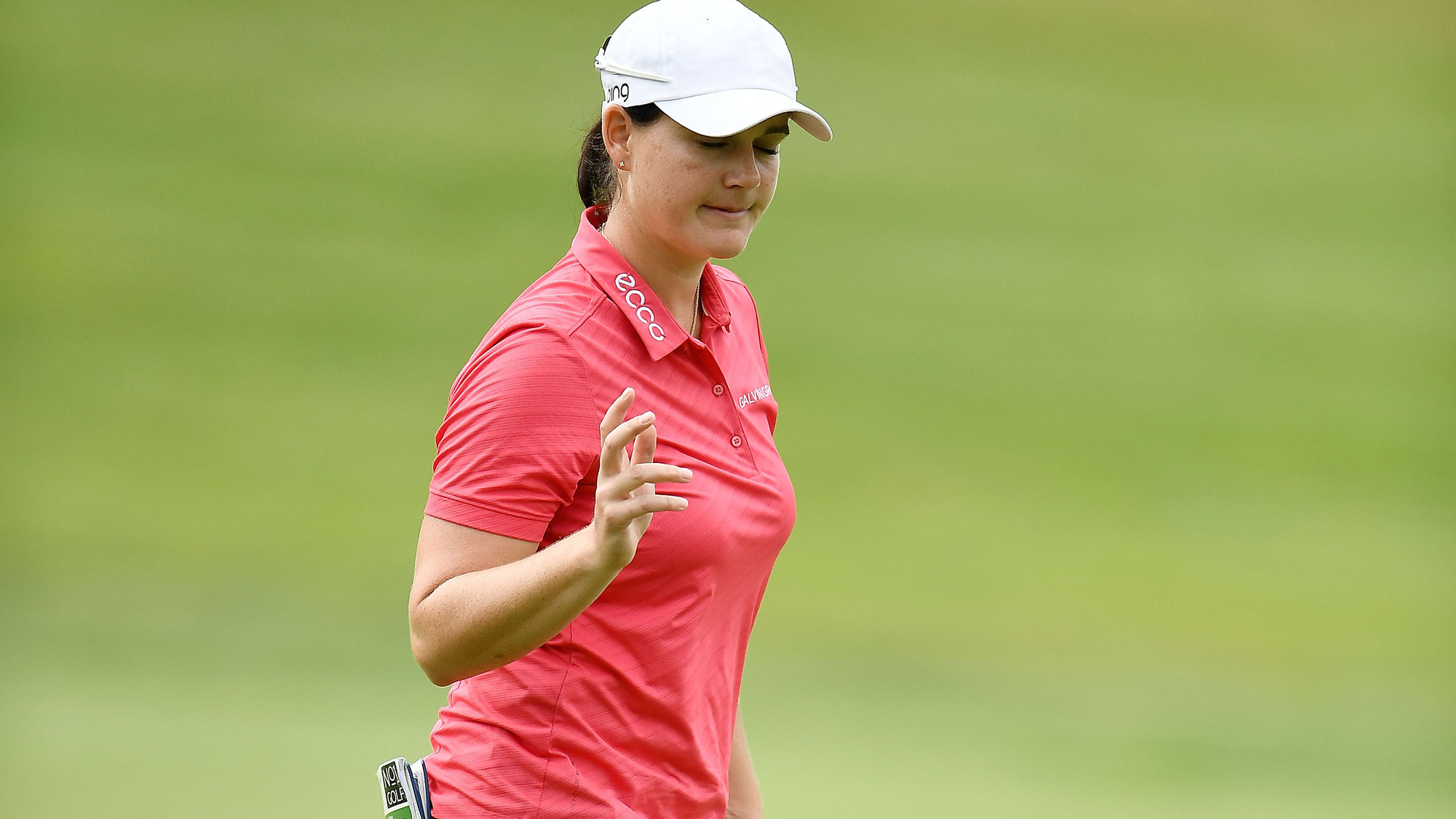 Caroline Masson After a Birdie at the Meijer LPGA Classic