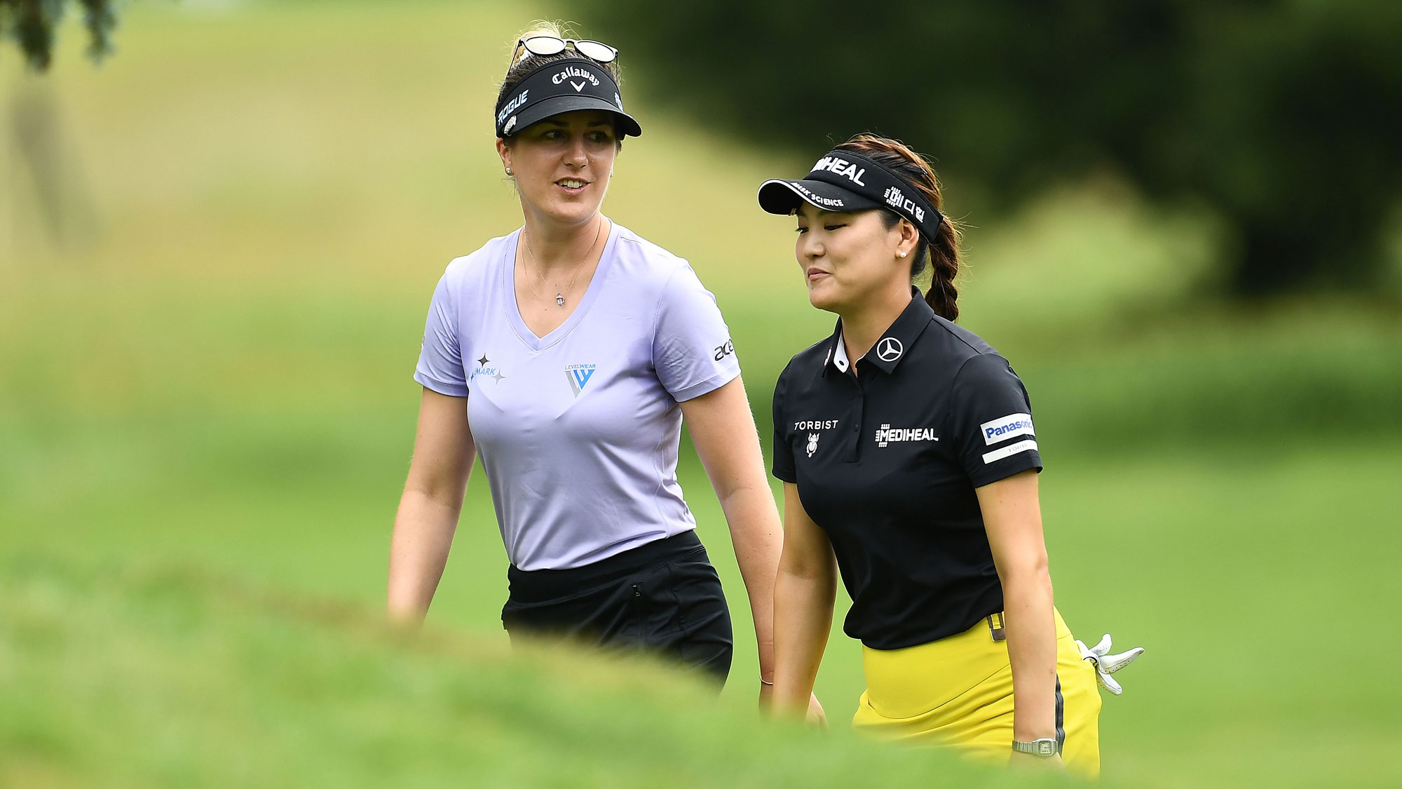 Sandra Gal and So Yeon Ryu Share a Laugh at Meijer LPGA Classic