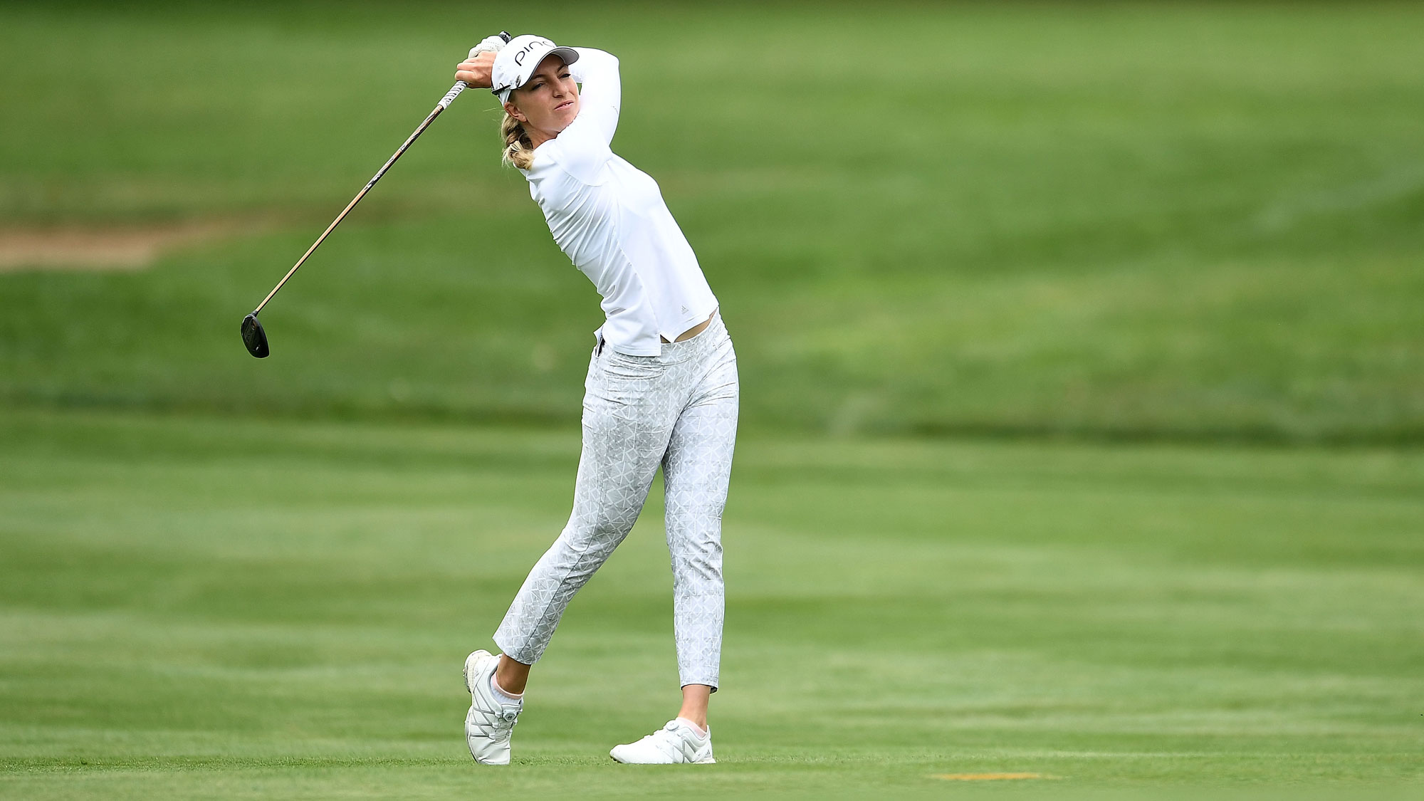 Sophia Popov Out of the Fairway at Meijer LPGA Classic