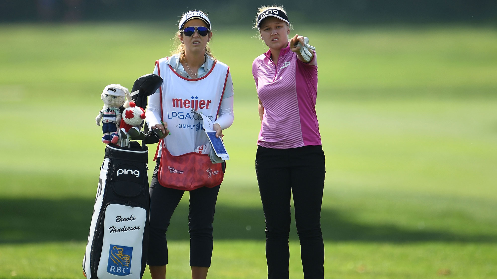 Brooke and Brittany Discuss at the meijer LPGA Classic