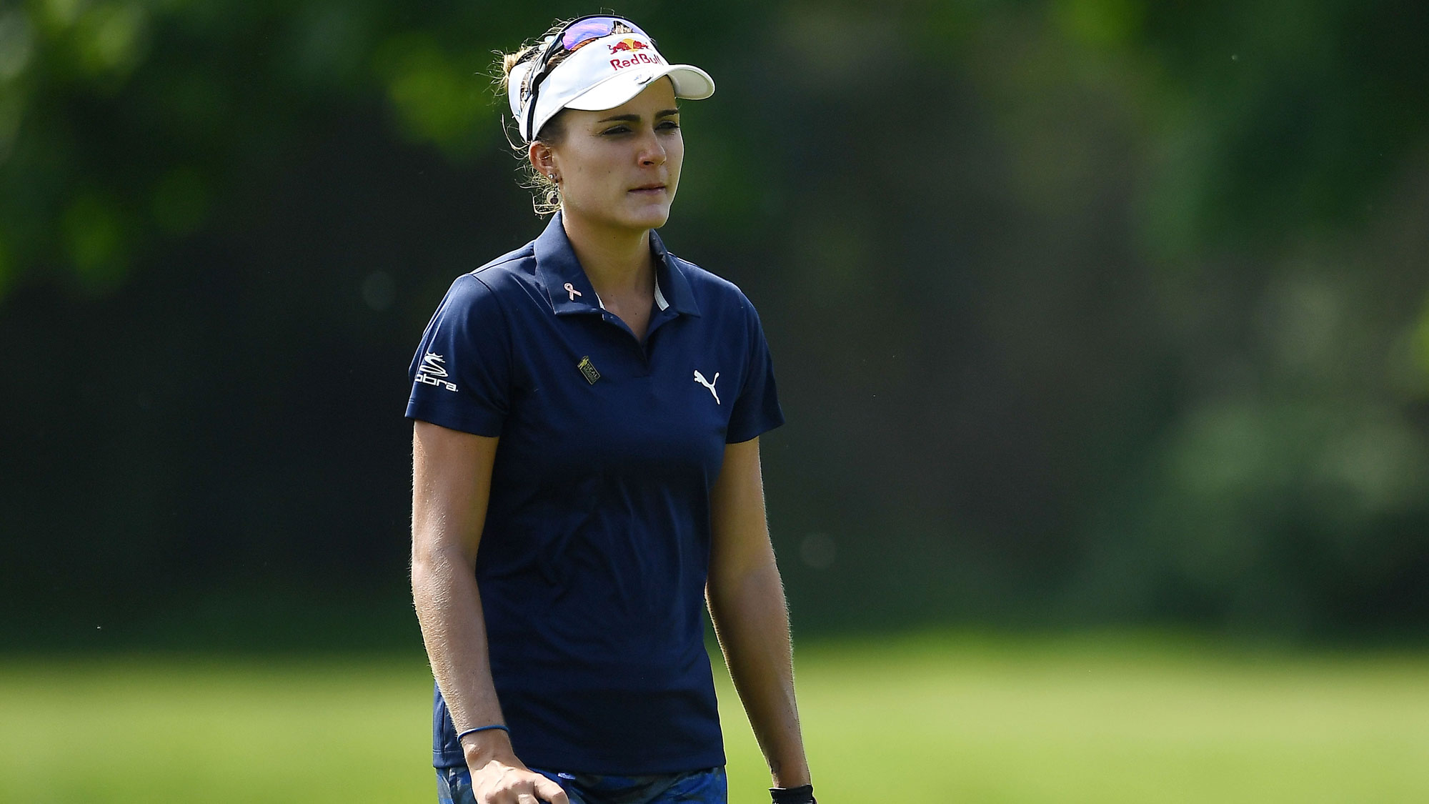 Lexi Thompson Walks Down the Fairway