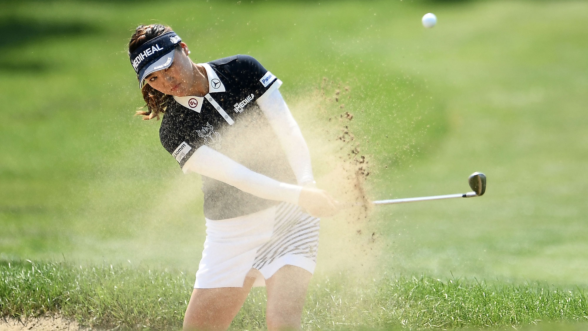 So Yeon Ryu Out of the Bunker at the Meijer LPGA Classic